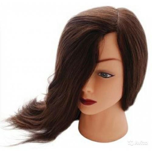 Dewal Голова учебная шатенка, натуральные волосы 45-50 смDewal<br>Характеристика головы учебной DEWAL «шатенка», натуральные волосы 45-50 см:<br>- Голова-манекен без штатива торговой марки DEWAL;<br>- Изготовлена из высококачественной пластмассы и натуральных волос темного цвета длиной 45-50 см;<br>- Используется в учебных целях.<br>Манекены головы – это один из самых важных инструментов каждого парикмахера, который  служит для тренировки и обучения начинающего специалиста делать стрижки, укладки, причёски, заплетать косы, окрашивать волосы.<br>Особенности головы-манекена с натуральными   волосами длиной 45-50 см:<br>- Голова-манекен высокого качества от производителя с многолетней историей;<br>- Возможность оттачивать навыки стрижки волос ножницами, не боясь испортить инструменты;<br>- Возможность создания как горячей укладки с помощью фена, плойки и других инструментов, так и холодной;<br>- Возможность тренироваться в создании различного рода причёсок: вечерних, свадебных, повседневных, с использованием шпилек, заколок и других аксессуаров;<br>- Возможность окрашивать, тонировать,колорировать волосы , делать химические завивки.<br>Правила эксплуатации и уход за головой-манекеном с натуральными  волосами: при использовании голов-манекенов с натуральными  волосами требуются те же правила, что и с натуральными человеческими  волосами. Их можно мыть шампунем, наносить маски и бальзамы, аккуратно расчесывать. Степень теплового воздействия (сушка феном, окрашивание, хим. завивка, завивка с помощью плоек, утюжков) на натуральные волосы волосы  имеет ограничение . В противном случае их можно просто пережечь, что ведет к их выпадению. При бережной и правильной эксплуатации Ваш манекен прослужит Вам достаточно долго.<br>Манекен головы – идеальный выбор как для начинающего, так и для опытного парикмахера. С помощью этого инструмента вы сможете повысить свои навыки в работе с волосами: в создании укладок и вечерних причёсок, стрижки волос, а также с их окрашивания. Учебная го