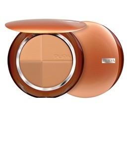 Pupa компактная бронзирующая пудра SPF15 (02 gold harmony)Pupa<br>Pupa бронзирующая пудра - идеальное средство для придания Вашему лицу золотистого оттенка.Новая компактная пудра с полихромным эффектом постепенного загара состоит из 4-х натуральных и матовых оттенков, которые могут использоваться по отдельности или комбинироваться между собой в зависимости от времени года и Вашего оттенка кожи.В результате Вы получаете естественный сияющий цвет лица без изъянов благодаря пигментам «Soft Focus», отражающим свет.Бронзер Пупа имеет воздушную, шелковистую основу, которая прекрасно ложится и легко наносится и растушевывается.Полихромная гамма из 4-х оттенков эффектно подчеркнет Ваш естественный цвет лица.Пигменты «Soft Focus»:- Частички, составляющие основу пигментов нового поколения «Soft Focus», отражают свет и минимизируют недостатки и мелкие морщины, облагораживая лицо и делая кожу гладкой и сияющей.- Содержат Витамины Е, C и Лецитин.- Антиоксидантные компоненты способствуют замедлению процесса старения кожи.- Средняя защита от солнца SPF 15.- Без парабенов.Советы по применению:Если у вас на лице нет загара- Кисточкой для пудры с эффектом загара круговыми движениями нанесите на лицо оттенки 1 и 2, начиная с центральных зон лица, растушевывая по направлению к контуру.- Чтобы придать Вашей коже более теплый цвет, используйте оттенок 3 вместо румян на скулах и контуре лица.- И наконец, оттенок 1, нанесенный на неподвижные веки, сделает кожу ровной, а взгляд более выразительным.Если у вас на лице средне-интенсивый загар- Кисточкой для пудры с эффектом загара круговыми движениями нанесите на лицо оттенки 2 и 3, начиная с центральных зон лица, растушевывая по направлению к контуру.- Чтобы придать Вашей коже более теплый цвет, используйте оттенок 4 вместо румян на скулах и контуре лица.- И наконец, оттенок 1, нанесенный на неподвижные веки, сделает кожу ровной, а взгляд более выразительным.Если у вас на лице сильный загар- Кисточкой для пудры с эффектом загара смешайте все 