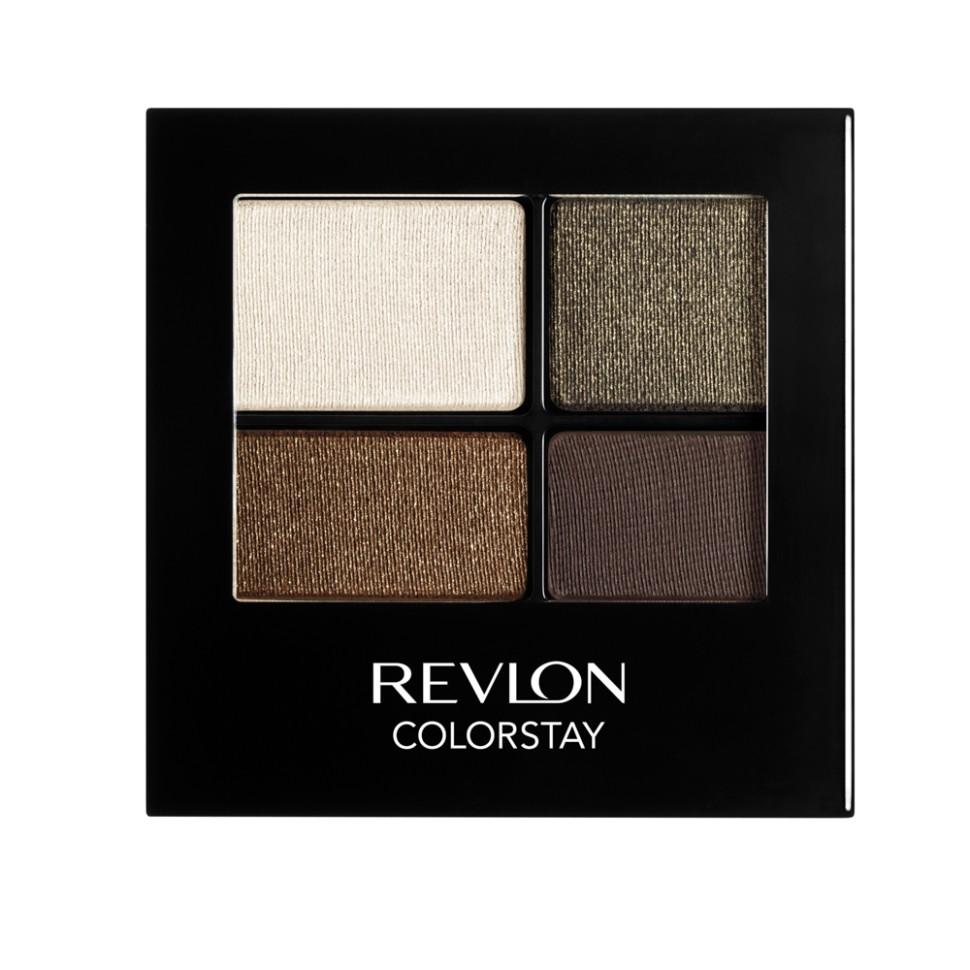 Revlon Тени для век четырехцветные Colorstay Eye 16 Hour Eye Shadow Quad (515 Adventurous)Revlon<br>Colorstay 16 Hour Sahdow - роскошные тени для век с шелковистой текстурой и невероятно стойкой формулой. Теперь ваш макияж сохранит свой безупречный вид не менее 16 часов! Все оттенки гармонично сочетаются друг с другом и легко смешиваются, позволяя создать бесконечное количество вариантов макияжа глаз: от нежных, естественных, едва заметных, до ярких, выразительных, драматических. На оборотной стороне продукта приведена схема нанесения.Способ применения:<br>аккуратно нанести на веки специальной кисточкой<br>Состав:<br>MICA, BORON NITRIDE, BISMUTH OXYCHLORIDE, DIMETHICONE, NYLON-12, POLYMETHYL METHACRYLATE, ZINC STEARATE, POLYETHYLENE, METIHIICONE, PHENOXYETHANOL, POLYGLYCERYL-4 ISOSTEARATE, DIMETHICONOL, TRIMETHYLSILOXYSILICATE, DIISOSTEARYL MALATE, LAURYL PEG/PPG-18118 METHICONE, SORBIC ACID, LAURYL METHACRYLATEI/GLYCOL DIMETHACRYLATE CROSSPOLYMER, SILICA SILYLATE, LECITHIN, SYNTHETIC FLUORPHLOGOPITE, CALCIUM ALUMINUM BOROSILICATE, SILICA, TRIETHOXYCAPRYLYLSILANE, YELLOW IRON OXIDE (CI 77492), TITANIUM DIOXIDE (CI 77891), RED IRON OXIDE (CI 77491)<br><br>Вес г: 77<br>Бренд : Revlon<br>Объем мл: 42<br>В комплекте : аппликатор<br>Способ нанесения : сухой<br>Эффект на веках : матовый<br>Тип теней : компактные<br>Страна производитель : СОЕДИНЕННЫЕ ШТАТЫ АМЕРИКИ