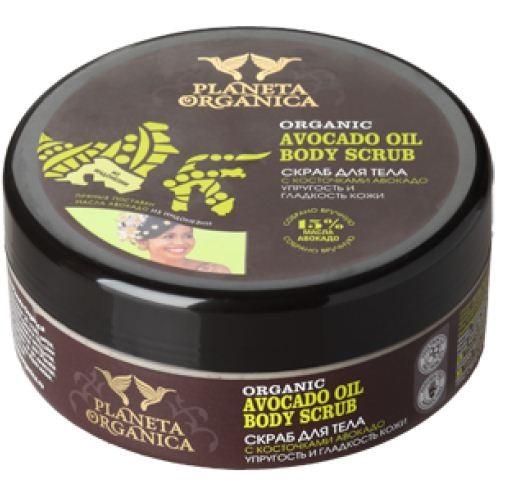Planeta Organica Скраб для тела Упругость Кожи АвокадоPlaneta Organica<br>ORGANIC AVOCADO OIL 15% - скраб для тела Planeta Organica с косточками авокадо, приготовлен на органическом масле авокадо. Богатое витаминами, натуральное масло авокадо глубоко проникает в кожу, питает и разглаживает её, скраб мягко очищает, делая кожу более мягкой и бархатистой.Состав: Aqua with infusion of Organic Persea Gratissima Fruit Oil органическое масло авокадо, Amorphophallus Konjac Root Extract экстракт корня коньяка, Coconut Milk Extract экстракт косового молочка, Isopropyl Palmitate, Glyceryl Stearate, Glycerin, Cetearyl Alcohol, Kaolin, Persea Gratissima Seed Powder, Cetearyl Glucoside, Cetyl Palmitate, Benzyl Alcohol, Dehydroacetic Acid, Sodium Benzoate, Potassium Sorbate, Parfume, Citric Acid.<br><br>Вес г: 300<br>Бренд : Planeta Organica<br>Объем мл: 250<br>Страна производитель : Россия