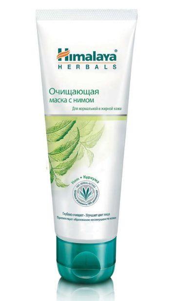 HIMALAYA Маска очищающая для нормальной и жирной кожи Ним и КуркумаHimalaya Herbals<br>Благодаря уникальным свойствам Нима препятствует появлению прыщей. Глубоко очищает поры, освежает цвет лица и делает кожу бархатистой. Уменьшает жировые выделения и очищает поры кожи. Ним известен антибактериальными свойствами, а также защитой кожи от появления угрей и прыщей. В сочетании с куркумой он уничтожает бактерии, вызывающие угри. Отбеливающая глина освежает и смягчает кожу.<br><br>Вес г: 85<br>Бренд : Himalaya Herbals<br>Объем мл: 75<br>Тип кожи : нормальная, жирная<br>Консистенция маски : кремообразная<br>Часть лица : лицо<br>По времени суток : дневной уход<br>Назначение маски : очищающая<br>Страна производитель : Индия