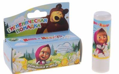 Маша и Медведь Бальзам для губ Ромашка и медМаша и Медведь<br>Бальзам для губ - одно из важнейших косметических средств, которое защищает губы от негативных воздействий окружающей среды. Может использоваться как самостоятельный продукт, так и в качестве основы перед нанесением блеска для губ.Масло жожоба в составе бальзама для губ обладает защитным и восстанавливающим свойствами. Средство не оставляет ощущения вязкости. Обладает приятным ароматом ромашки и меда. Подходит для ежедневного применения не только детям, но и взрослым с чувствительной кожей.Применение: нанести на губы ровным тонким слоем для создания защитного слоя, или использовать по мере необходимости для восстановления потрескавшейся, сухой, шелушащейся кожи губ.<br><br>Вес г: 5<br>Бренд: Маша и Медведь<br>Упаковка помады: футляр (выдвижная)<br>Текстура помады: глянцевая<br>Свойства помады: гигиеническая<br>Вид помады: классическая<br>Страна производитель: Россия