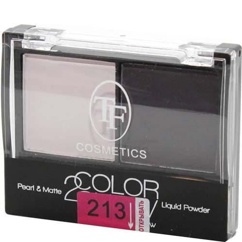 ТРИУМФ TF Тени для век двойные Color Show (213 жемчужно-розовый+темно-фиолетовый)ТРИУМФ TF<br>Новый взгляд на макияж. Сочетание жемчужных и матовых микро-гелевых текстур для бархатного нанесения и стойкости до 10 часов.<br><br>Вес г: 30<br>Бренд : Триумф TF<br>В комплекте : аппликатор<br>Способ нанесения : сухой<br>Эффект на веках : перламутровый<br>Тип теней : компактные<br>Страна производитель : Польша
