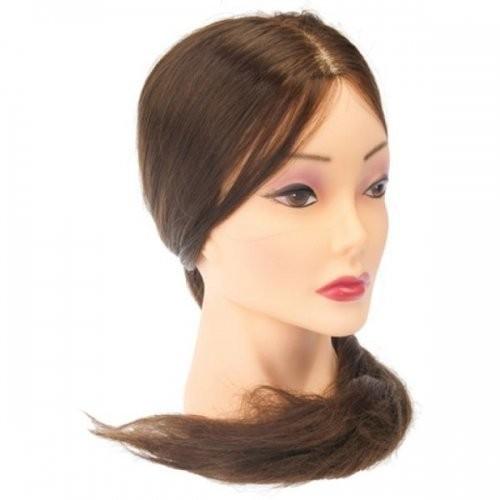 Dewal Голова учебная шатенка, протеиновые волосы 50-60 смDewal<br>Характеристика головы  «шатенка», волосы 50-60 см протеин:<br>- Голова-манекен без штатива, торговой марки Dewal;<br>- Изготовлена из высококачественной пластмассы и искусственных волос темного  цвета длиной 50-60 см;<br>- Используется в учебных целях.<br>Манекены головы – это один из самых важных инструментов каждого парикмахера, который  служит для тренировки и обучения начинающего специалиста делать стрижки, укладки, причёски, заплетать косы, окрашивать волосы.<br>Особенности головы-манекена с протеиновыми  волосами длиной 50-60 см:<br>- Голова-манекен высокого качества от  производителя с многолетней историей;<br>- Возможность оттачивать навыки стрижки волос ножницами, не боясь испортить инструменты;<br>- Возможность создания как горячей укладки с помощью фена, плойки и других инструментов, так и холодной;<br>- Возможность тренироваться в создании различного рода причёсок: вечерних, свадебных, повседневных, с использованием шпилек, заколок и других аксессуаров;<br>- Возможность окрашивать, тонировать и колорировать волосы.<br>- Используя при производстве протеиновые волосы , мы обеспечиваем не высокую стоимость данного продукта.<br>Правила эксплуатации и уход за головой-манекеном протеиновыми волосами: при использовании голов-манекенов с протеиновыми волосами требуются те же правила, что и с натуральными человеческими  волосами. Их можно мыть шампунем, наносить маски и бальзамы, аккуратно расчесывать. Степень теплового воздействия (сушка феном, окрашивание, хим. завивка, завивка с помощью плоек, утюжков) на протеиновые волосы волосы  имеет ограничение 140C . В противном случае их можно просто пережечь, что ведет к их выпадению. Внимательно соблюдайте инструкцию и Ваш манекен прослужит Вам достаточно долго. Манекен головы – идеальный выбор как для начинающего, так и для опытного парикмахера. С помощью этого инструмента  вы сможете повысить свои навыки в работе с волосами: в создании укладок и вечер