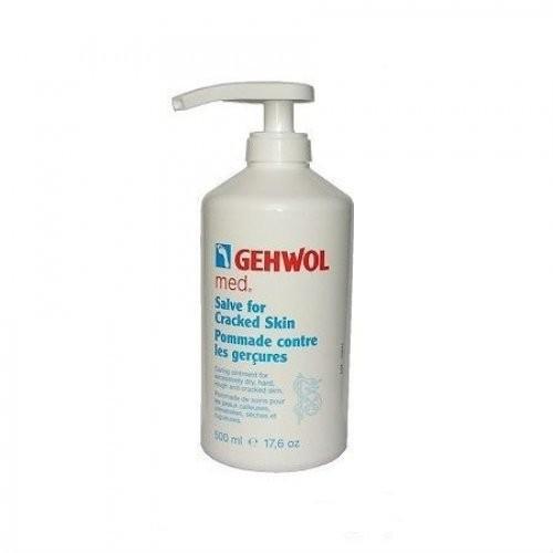 Gehwol Мазь от трещин 500мл.Gehwol<br>Мазь Gehwol от трещин (Shrunden–salbe) решает проблему  потрескавшейся, жёсткой,грубой и сухой кожи, заживляет раны и трещины. Основой мази являются питательные жиры и риционелат калия (специальное мыло). В состав также входят натуральные эфирные масла, бисаболол и пантенол. При регулярном использовании мази от трещин Геволь кожа обновляется и к ней возвращается натуральная эластичность. Средство защищает потрескавшуюся кожу от заражения инфекциями, облегчает её болезненное состояние. Также может использоваться как средство, заживляющее трещины на руках.<br>Применение: Один или два раза в день наносить мазь, тщательно массируя кожу.<br><br>Вес г: 550<br>Бренд: Gehwol<br>Объем мл: 500