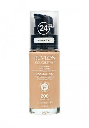 Revlon Тональный крем для нормальной и сухой кожи Colorstay Makeup For Normal-Dry Skin (200 Nude)Revlon<br>Colorstay - легендарная коллекция тональных средств, выбор ведущих визажистов во всем мире! Colorstay Make Up For Normal / Dry Skin - тональный крем с удивительно легкой текстурой идеально выравнивает тон и рельеф кожи, обеспечивая ей при этом должный уровень увлажнения. Colorstay™ дарит коже приятную матовость, сохраняет макияж безупречным надолго - гарантированная стойкость в течение 24 часов! Предназначен для сухой и нормальной кожи.Способ применения:<br>Наносите крем легкими разглаживающими движениями от центра к контурам с помощью кисти или пальцев, затем растушуйте на границе нанесения: у линии роста волос, в области шеи и ушей.<br>Состав:<br>CYCLOPENTASILOXANE, AQUA((\VATER) EAU), DIMETHICONE, TRIMETHYLSILOXYSILICATE, TITANIUM DIOXIDE [NANO], PEG-9 POLYDIMETHYLSILOXYETHYL DIMETHICONE, PHENYL TRIMETHICONE, ZINC OXIDE [NANO], BUTYLENE GLYCOL, SILICA, METHYL METHACRYLATE CROSSPOLYMER, NYLON-12, DIMETHICONE/PEG·I0/15 CROSSPOLYMER, TRIBEHENIN, ALUMINA, METHICONE, MAGNESIUM SULFATE, LAURETH-7, POLYGLYCERYL-3 DIISOSTEARATE, PHENOXYETHANOL, ETHYLPARABEN, METHYLPARABEN, DISTEARDIMONIUM HECTORITE, ETHYLENE BRASSYLATE, TRIETHOXYCAPRYLYLSILANE, TOCOPHERYL ACETATE, TRIETHYL CITRATE, TETRASODIUM EDTA, TOCOPHEROL, SODIUM CITRATE, DIPROPYLENE GLYCOL, BISABOLOL, ETHYLHEXYLPALMITATE, SALICYLIC ACID, CYCLOHEXASILOXANE, DIMETHICONE/SILSESQUIOXANE COPOLYMER, SILICA DIMETHYL SILYATE, HEXYLENE GLYCOL, POLYSORBATE 80, POLYSORBATE 20, AMMONIUM POLYACRYLOYLDIMETHYL TAURATE, CAPRYLYL GLYCOL, SERICA ((SILK) SOIE), CYMBIDIUM GRANDIFLORUM (ORCHID) FLOWER EXTRACT, LACTOBACILLUS/ERIODICTYON CALIFORNICUM FERMENT EXTRACT, LILIUM CANDIDUM BULB EXTRACT, MALV<br><br>Вес г: 165<br>Бренд : Revlon<br>Объем мл: 30<br>Упаковка : с дозатором<br>Тип кожи : сухая<br>Степень покрытия : плотная<br>Эффект от нанесения : выравнивающий<br>Тип тонального средства : крем<br>Фактор SPF : 15<br>Страна произ