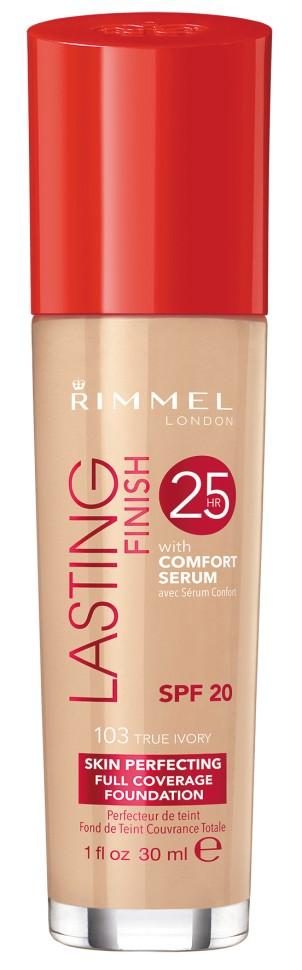 Rimmel Тональный Крем Lasting Finish Comfort Found (№103)Безупречный макияж до 25 часов. Формула с активными ингредиентами: минеральный комплекс заряжает энергией уставшую кожу, а сыворотка Comfort с витамином Е и гиалуроновой кислотой увлажняет кожу. Не тускнеет, не смазывается, не боится стрессов. Солнцезащитный фактор SPF 20.<br>Состав:<br>AQUA/WATER/EAU, CYCLOPENTASILOXANE, TITANIUM DIOXIDE, BUTYLENE GLYCOL, CETYL PEG/PPG-10/1 DIMETHICONE, ETHYLHEXYL METHOXYCINNAMATE, TALC, TRIMETHYLSILOXYSILICATE, SODIUM PCA, SILICA SILYLATE, C12-15 ALKYL ETHYLHEXANOATE, MAGNESIUM SULFATE, ZINC STEARATE, DIMETHICONE/VINYL DIMETHICONE CROSSPOLYMER, ACRYLATES/C12-22 ALKYL METHACRYLATE COPOLYMER, BISPEG/PPG-14/14 DIMETHICONE, AMODIMETHICONE, LAURETH-7, LECITHIN, TRIBEHENIN, DISTEARDIMONIUM HECTORITE, PHENOXYETHANOL,TRIHYDROXYSTEARIN, CHLORPHENESIN, DIMETHICONOL, TRIETHOXYCAPRYLYLSILANE, XANTHAN GUM, PARFUM/FRAGRANCE, PENTYLENE GLYCOL, TOCOPHERYL ACETATE, PROPYLENE CARBONATE, HYDROXYETHYLCELLULOSE, GLYCERIN, CITRIC ACID, FRUCTOSE, SODIUM HYDROXIDE, UREA, LAURETH-4, HEXYL CINNAMAL, LIMONENE, BUTYLPHENYL METHYLPROPIONAL, ALLANTOIN, MALTOSE, SODIUM CHLORIDE, SODIUM LACTATE, SODIUM SULFATE, TREHALOSE, BENZYL SALICYLATE, LINALOOL, GERANIOL, BHT, CITRONELLOL, ALPHA-ISOMETHYL IONONE, GLUCOSE, SODIUM HYALURONATE, PENTAERYTHRITYL TETRA-DI-T-BUTYL H<br><br>Вес г: 150<br>Бренд : Rimmel<br>Объем мл: 30<br>Упаковка : с дозатором<br>Тип кожи : все типы кожи<br>Степень покрытия : средняя<br>Эффект от нанесения : выравнивающий<br>Тип тонального средства : крем<br>Фактор SPF : 20<br>Страна производитель : Великобритания