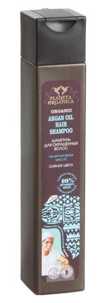 Planeta Organica Шампунь для окрашенных волос Аргановое МаслоPlaneta Organica<br>ORGANIC ARGAN OIL 10% — шампунь для окрашенных волос, приготовлен на натуральном аргановом масле. Богатое витаминами масло аргании увлажнит и восстановит волос по всей длине. Сохраняя цвет, вернет волосам природную силу и блеск.<br><br>Вес г: 280<br>Бренд : Planeta Organica<br>Объем мл: 250<br>Тип волос : окрашенные<br>Действие : увлажнение, восстановление, сохранение цвета, блеск и эластичность<br>Тип средства для волос : шампунь<br>Страна производитель : Россия