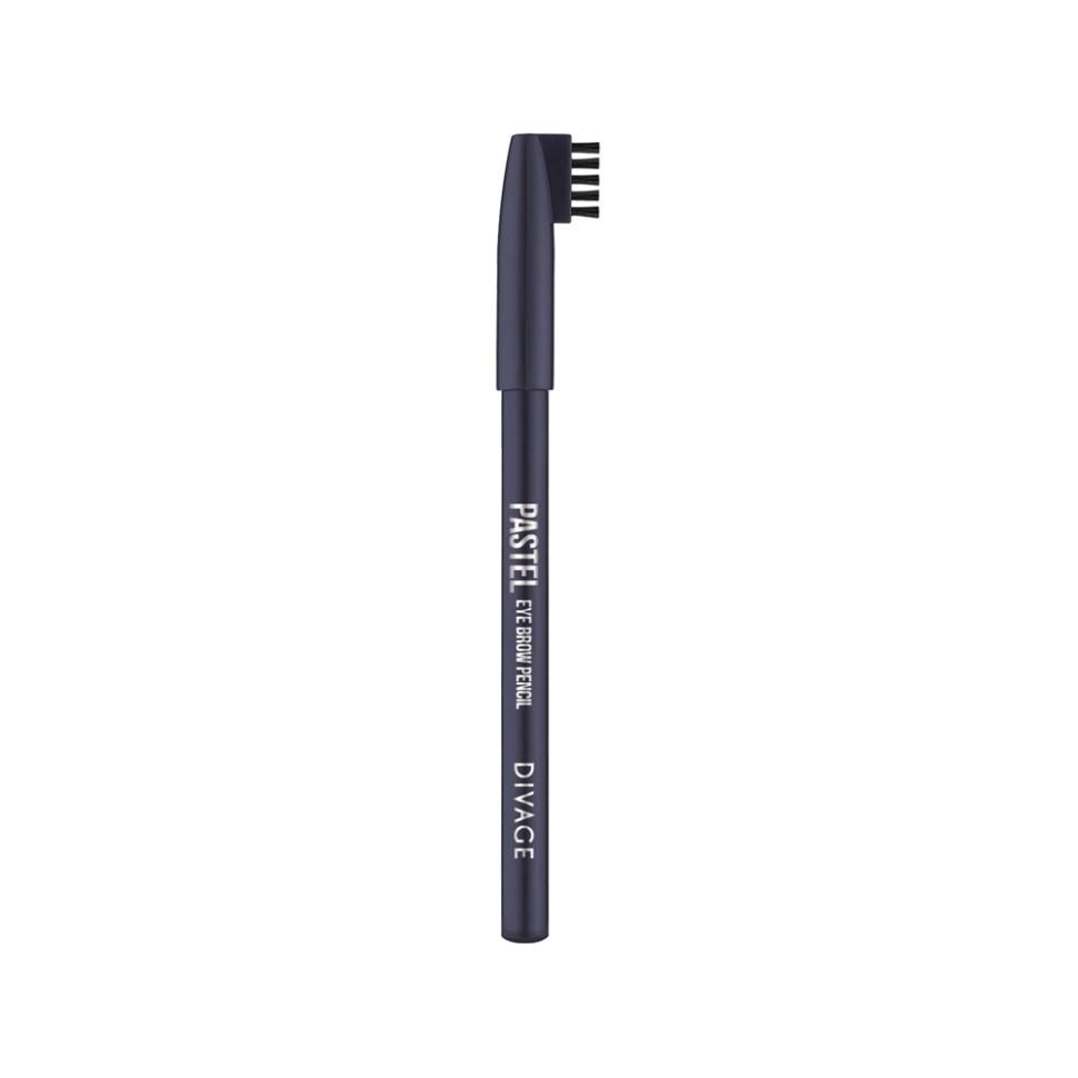 Divage Карандаш для бровей Pastel (1105 черно-коричневый)Divage<br>Карандаш плотной текстуры идеально подходит для графичного моделирования формы бровей. Воздушный пудровый контур придаёт бровям совершенную форму и гармоничный объём. Обеспечивает эффект натуральных, ровных и густых бровей. Эффект достигается не только благодаря насыщенному составу, но и маленькой расчёске, которая используется до и после применения карандаша. Она предварительно подготавливает брови для использования карандаша, а затем облегчает его равномерное распределение для придания брови формы и ровного цвета. Касто ровое масло и растительные воски, содержащиеся в составе карандаша, бережно ухаживают за нежной кожей века. Подари образу максимальную естественность с карандашами для бровей PASTEL от DIVAGE!<br>Особенности состава:<br>Карандаш имеет удобную форму треугольника, благодаря которой не скатывается с плоской поверхности. Содержит смягчающие масла жожоба, соевых бобов, экстракт алоэ вера, витамины Е. Масло жожоба и соевых бобов придаёт контуру кондиционирующее и смягчающее свойства. Оно регулирует водно-липидный баланс, предохраняя кожу губ от сухости. Открой для себя сочетание глубокого цвета и деликатного ухода с карандашами PASTEL от DIVAGE!<br>Мнение эксперта:<br>Секреты нанесения от DIVAGE помогут тебе создать яркие и четкие карандашные линии. При выполнении макияжа не бойся сочетать несколько цветов карандаша для глаз. Для верхнего века используй один цвет карандаша, а нижнее веко подводи контрастным оттенком. Не соединяй линию нижней и верхней подводки. Выводи верхнюю подводку вверх по направлению к виску - это визуально увеличит разрез глаз и придаст твоему взгляду игривости! Для придания макияжу большей естественности растушуй карандашную линию кистью или спонжем. Будь самой яркой с карандашами DIVAGE!<br>Состав:<br>Состав: Beeswax (Cera Alba), Carnauba wax, Ozokerite, Castor oil, Petrolatum, Phenoxyethanol, Sorbic Acid. Может содержать: CI 77499, CI 77007, CI77491, CI 77492, CI