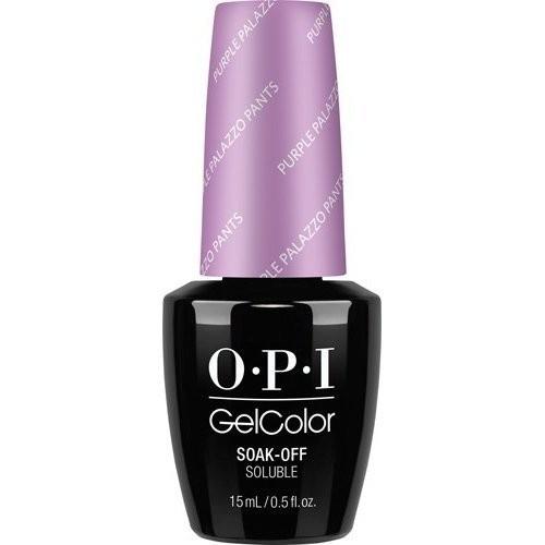 OPI Гель-лак для ногтей GelColor by OPI GCV34 Purple Palazzo Pants 15 млOPI<br>Благодаря высокой стойкости эластичных гелевых лаков OPI наслаждаться любимым маникюром теперь можно очень и очень долго. Ведь покрытие, нанесенное OPI GelColor, не скалывается и не отслаивается в течение нескольких недель, продолжая радовать своих обладательниц нетускнеющим глянцевым блеском. А нанести такое покрытие не составит труда даже в домашних условиях благодаря удобной встроенной кисточке, плоская укороченная форма которой поможет без труда справиться даже с французским маникюром.<br><br>Вес г: 30<br>Бренд: OPI<br>Объем мл: 15