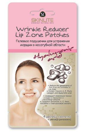 SKINLITE Гелевые подушечки для устранения морщин в носогубной областиДля лица<br>Гелевые подушечки для устранения морщин в носогубной области от Скинлайт.• Сокращают появление тонких складок и морщинок в носогубной области• Содержат Витамины А, Е,• Фито Коллаген и Гиалуроновую кислоту                                                               • Подходят для использования в области под глазами4 штуки (2применения)Гелевые подушечки Skinlite - маска для устранения морщин в носогубной области интенсивно воздействуют на проблемную область лица, в которой с возрастом образуются складки. Специальный комплекс витаминов и фито коллагена, входящий в состав подушечек, глубоко проникает в слои кожи, питает, повышает ее эластичность и помогает восстановить синтез коллагеновых и эластиновых волокон.В состав подушечек также входит Гиалуроновая кислота - гигроскопичная молекула, которая мгновенно разглаживает поверхностные морщины.После применения подушечек кожа выглядит значительно моложе: поверхностные и глубокие морщины разглаживаются, повышается упругость кожи.<br><br>Вес г: 20<br>Бренд: Skinlite<br>Тип кожи: все типы кожи<br>Консистенция маски: подушечки/полоски<br>Часть лица: глаза, носогубная область<br>По времени суток: дневной уход<br>Назначение маски: омолаживающая