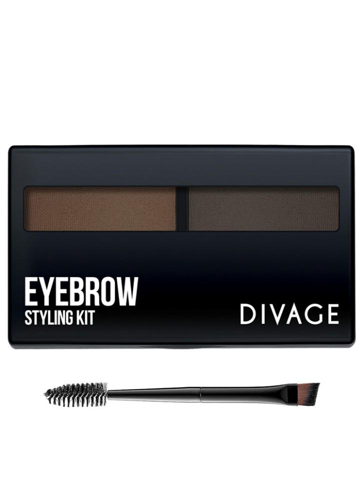 Divage Eyebrow Styling - Набор для моделирования формы бровей №02Divage<br>Идеальные, естественные и густые брови - один из главных трендов в макияже. Для создания натуральных широко очерченных бровей используй новые компактные тени EYEBROW STYLING KIT от DIVAGE, представленные в двух оттенках.Способ применения:<br>Используя кисточку, смешай тени разных цветов, чтобы получить оптимальный оттенок. Короткими движениями кисточки тщательно распредели тени по бровям и растушуй щеточкой для бровей для более естественного результата. Чтобы придать бровям более четкую форму<br>Описание:<br>Идеальные, естественные и густые брови - один из главных трендов в макияже. Для создания натуральных широко очерченных бровей используй новые компактные тени EYEBROW STYLING KIT от DIVAGE, представленные в двух оттенках. Специальная скошенная кисть, входящая в набор, поможет легко нанести тени и идеально прорисовать линию бровей, а расческа придает волоскам единое направление и ухоженный вид.<br>Особенности состава:<br>Специальная скошенная кисть, входящая в набор, поможет легко нанести тени и идеально прорисовать линию бровей, а расческа придает волоскам единое направление и ухоженный вид.<br>Мнение эксперта:<br>Идеальные, естественные и густые брови - один из главных трендов в макияже. Для создания натуральных широко очерченных бровей используй новые компактные тени EYEBROW STYLING KIT от DIVAGE, представленные в двух оттенках. Специальная скошенная кисть, входящая в набор, поможет легко нанести тени и идеально прорисовать линию бровей, а расческа придает волоскам единое направление и ухоженный вид.<br>Состав:<br>Caprylic/Capric Triglyceride, Isododecane, Propylene Carbonate, Talc, Cyclomethicone, Trimethylsiloxysilicate, Bentonite, Titanium/Titanium Dioxide, CI 77499, CI 77491, CI 77492, Tocopherol, Mineral Oil, Propylparaben<br><br>Вес г: 74<br>Бренд : Divage<br>Тип средства для бровей : набор, тени для бровей<br>Объем мл: 6<br>Страна производитель : Китай