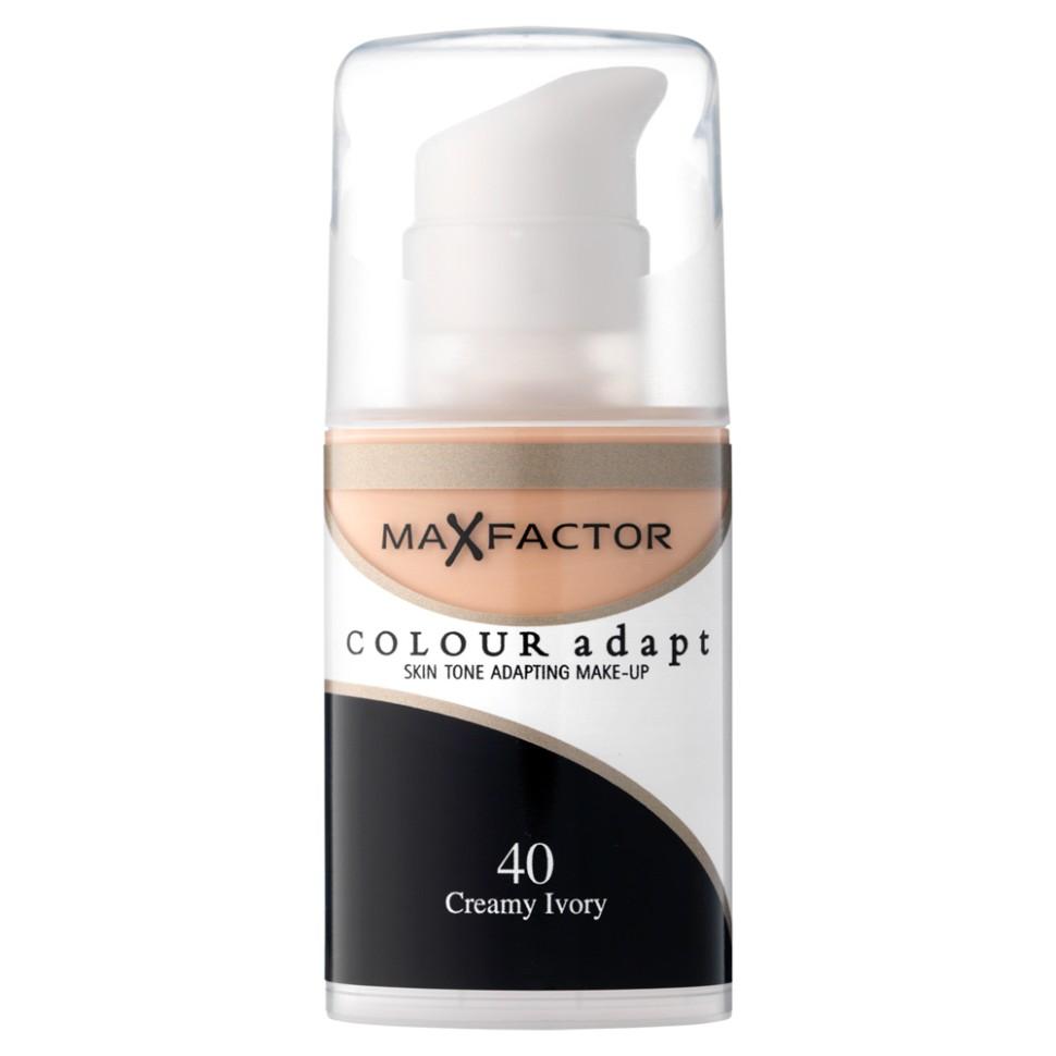 Max Factor основа под макияж Colour Adapt (40 creamy ivory)Тональный крем Max Factor Colour Adapt длительного действия придает лицу естественный оттенок, подстраивается под цвет лица, хорошо матирует, маскирует недостатки и пигменты кожи, легко и равномерно наносится благодаря легкой текстуре. Колор Адапт быстро впитывается и не создает эффекта маски, держится в течение всего дня. Его можно использовать как основу под макияж лица, а также в качетве самостоятельного тонального средства. Формула крем-пудры для безупречного покрытия. Не закупоривает поры.- Естественное покрытие, не скрывающее естественного блеска.- Не сушит кожу.- Без масла, подходит для чувствительной кожи.Протестировано дерматологами.Ваш макияж лица безупречен!Способ применения:Сравни тон основы с тоном кожи на щеках и линии челюсти, чтобы подобрать идеальный оттенок. Если тон подобран правильно, то он буквально исчезнет на твоей коже. Чтобы достичь ровного покрытия, нанеси небольшое количество основы на тыльную сторону ладони и распредели по лицу кистью или кончиками пальцев. <br>Состав:Циклометикон, вода, глицерин, двуокись титана, диметикон сополимер, слюда, диметикон, ПЕГ – 10 диметикон сополимер, диметилциклосилоксан, метикон, ПЕГ/ППГ – 18/ 18 метикон, бензиловый спирт, этилпарабен,двунатриевая этилендиаминтетрауксусная кислота, метилпарабен, пропилпарабен,<br><br>Тон : 75 golden<br>Бренд : Max Factor<br>Упаковка : с дозатором<br>Тип кожи : чувствительная<br>Степень покрытия : средняя<br>Эффект от нанесения : выравнивающий<br>Тип тонального средства : крем-пудра<br>Страна производитель : Ирландия