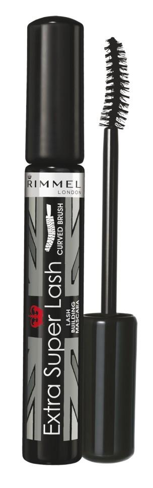 Rimmel Тушь для ресниц Extra Super Lash Curved BrushRimmel<br>Придаёт объём, удлиняет и разделяет ресницы. Специальная формула позволяет наносить несколько слоёв для получения длинных, заметных и эффектных ресниц, создавая различные типы макияжа - от естественного до яркого и выразительного.<br>Состав:<br>вода, стеариновая кислота, парафин, карнауба, триэтаноламин, поливинилпирролидон, бутиленгликоль, сорбитана полуторный олеат, триглицерид С18-36 кислоты, синтетический пчелиный воск, пропиленгликоль, гидролизованный кератин, лецитин, феноксиэтанол, пропилпарабен, ксантовая смола, токоферила ацетат, натрия хлорид, тальк, калия сорбат, метилпарабен, бутилпарабен, этилпарабен, изобутилпарабен, пигменты<br><br>Вес г: 57<br>Бренд : Rimmel<br>Вид туши : объемная, удлиняющая, подкручивающая, разделяющая<br>Форма кисточки : изогнутая<br>Материал кисточки : щетина<br>Объем мл: 8<br>Страна производитель : Великобритания