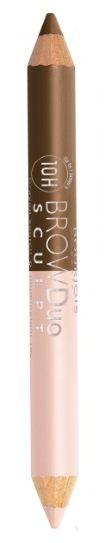 Bourjois карандаш для бровей Brow Duo Sculpt (22 ch?tain)Bourjois<br>Карандаш для бровей 2-в-1 придает желаемой формы и цвета бровей, а также высвечивает зону под бровями. Мягкая, кремовая, нежирная формула хайлайтера с другой стороны карандаша используется под бровью или для внутреннего уголка глаза придавая взгляду сияние и свежесть! Распределите и растушуйте универсальный опаловый оттенок хайлайтера под линией брови.  Способ применения: брови необходимо причесать и карандашом нанести метки, чтобы правильно и равномерно нанести штрихи. Потом волоски причесываются щеточкой для бровей и наносятся сами штрихи по направлению роста бровей. Цвет карандаша может быть однотонным или же разным.<br><br>Вес г: 10<br>Бренд : Bourjois<br>Тип средства для бровей : карандаш<br>Страна производитель : Франция