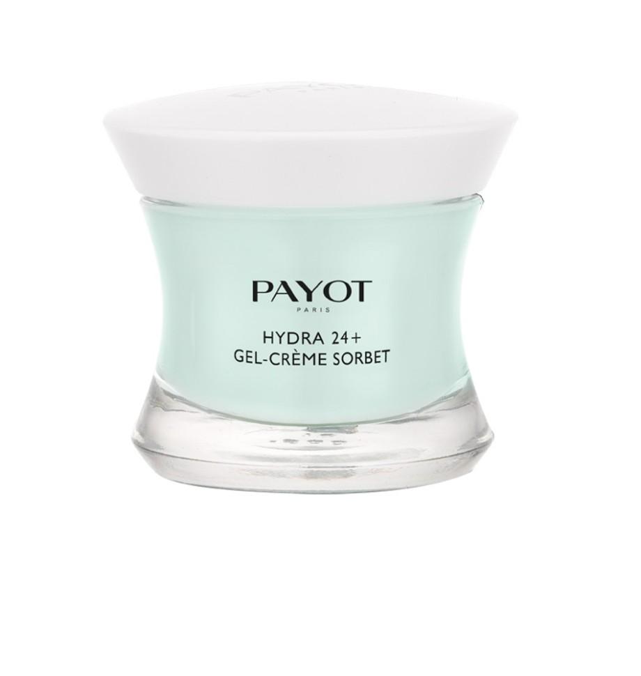 Payot Hydra 24+ Увлажняющий крем-гель, возвращающий контур коже 50 млPayot<br>Увлажняющий крем-гель для нормальной и склонной к жирности кожи прекрасно увлажняет, предотвращает преждевременное старение и защищает от внешних агрессивных факторов.<br>Способ применения:<br>Наносите крем утром и вечером на предварительно очищенную кожу лица или шеи.<br>Состав:<br>AQUA (WATER), GLYCERIN, BUTYLENE GLYCOL, ALCOHOL, TRIMETHYLOLPROPANE TRICAPRYLATE/TRICAPRATE, PROPYLHEPTYL  CAPRYLATE, DIGLYCERIN, DIMETHICONE, PARFUM (FRAGRANCE), POLYACRYLATE-13, CHLORPHENESIN, POLYISOBUTENE, PROPYLENE GLYCOL, TREHALOSE, UREA, ACRYLATES/C10-30 ALKYL ACRYLATE CROSSPOLYMER, TOCOPHERYL ACETATE, ASCORBYL TETRAISOPALMITATE, CREATINE, O-CYMEN-5-OL, POLYSORBATE 20, PENTYLENE GLYCOL, SERINE, SORBITAN ISOSTEARATE, SODIUM HYDROXIDE, PHENOXYETHANOL, SODIUM CARRAGEENAN, ALGIN, CAPRYLYL GLYCOL, DISODIUM PHOSPHATE, GLYCERYL POLYACRYLATE, PULLULAN, SODIUM HYALURONATE, FICUS CARICA (FIG) FRUIT EXTRACT, POTASSIUM PHOSPHATE, MARIS SAL (SEA SALT), CITRULLUS LANATUS (WATERMELON) FRUIT EXTRACT, CHRYSANTHELLUM INDICUM EXTRACT, ALTEROMONAS FERMENT EXTRACT, CI 42090 (BLUE 1), CI 19140 (YELLOW 5)<br><br>Вес г: 252<br>Бренд : Payot<br>Объем мл: 50<br>Тип кожи : нормальная, комбинированная, жирная<br>Консистенция : крем, гель/бальзам<br>Тип крема : увлажняющий, антивозрастной<br>Возраст : 16+<br>Эффект : моделирует контур лица<br>По времени суток : дневной уход, ночной уход<br>Страна производитель : Франция