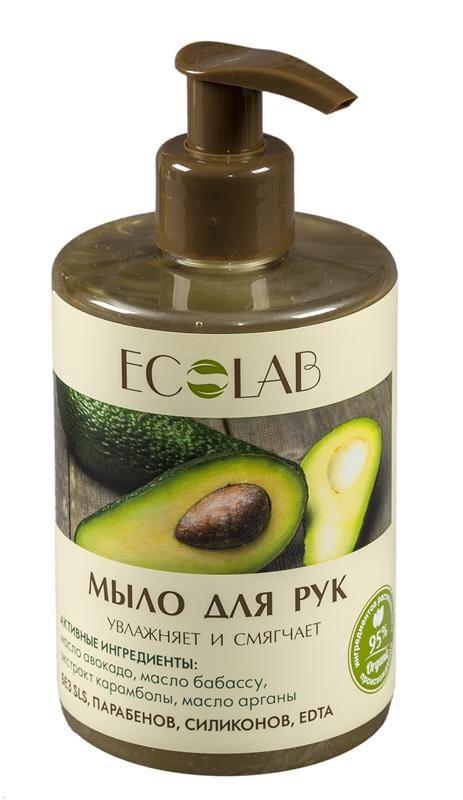 Ecolab Мыло для рук Увлажняет и смягчаетДля тела<br>Мыло для рук Ecolab содержит более 95% ингредиентов растительного происхождения. Входящее в состав масло арганы питает и увлажняет кожу. Продукт не содержит SLS, парабенов и силиконов.Масло авокадо<br>Авокадо способствует восстановлению липидного баланса кожи, способствует синтезу новых коллагеновых связей, а значит, продлевает и улучшает жизнь клеток нашей кожи.<br><br>Вес г: 350<br>Бренд : Ecolab<br>Объем мл: 300<br>Страна производитель : Россия