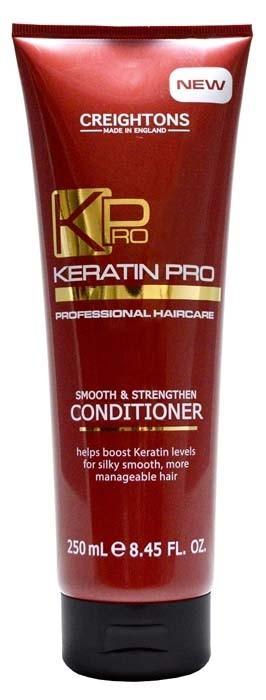 CREIGHTONS Кондиционер укрепление и увлажнение с Кератином для волосCreightons<br>Кератин Pro обеспечивает режим для ухода за волосами, который поможет укрепить волосы и восстановить их эластичность. Кондиционер глубоко питает волосы от корней до самых кончиков, борется с пушением, придает волосам блеск, делая их гладкими и легкими в укладке. Подходит для всех типов волос.<br><br>Вес г: 300<br>Бренд: Creightons<br>Объем мл: 250<br>Тип волос: все типы волос<br>Действие: увлажнение, укрепление<br>Тип средства для волос: кондиционер<br>Страна производитель: Великобритания