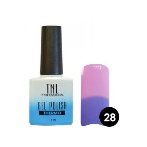 TNL Гель-лак Тhermo 10 мл (№28 темно-пурпурный)TNL<br>Гель-лаки Thermo effect меняют цвет в зависимости от температуры. Такой эффект долго не надоедает, потому что оттенок как по волшебству переходит от одного к другому. Достаточно поместить руку в теплую воду и ноготки заиграют другим цветом. Гель-лак реагирует на температуру тела, а точнее на температуру ногтя, потому что на его поверхности она колеблется: у основания ногтя температура высокая, на свободном крае - наоборот, низкая. Именно это и влияет на его цветовой переход.  Технология нанесения:  1. Подготовьте ногтевую пластину.  2. Нанесите базовое покрытие, поместите в лампу. LED – 1 мин./УФ – 2 мин.  3. Нанесите гель-лак в два слоя, помещая ноготь  в лампу после каждого слоя. LED – 1 мин./УФ – 2 мин.  4. Нанесите закрепитель, поместите в лампу. LED – 1 мин./УФ – 2 мин.  При необходимости удалите дисперсионный слой.<br><br>Вес г: 20<br>Бренд: TNL<br>Объем мл: 10<br>Вид лака: гель-лак<br>Эффект на ногтях: глянец<br>Страна производитель: Южная Корея