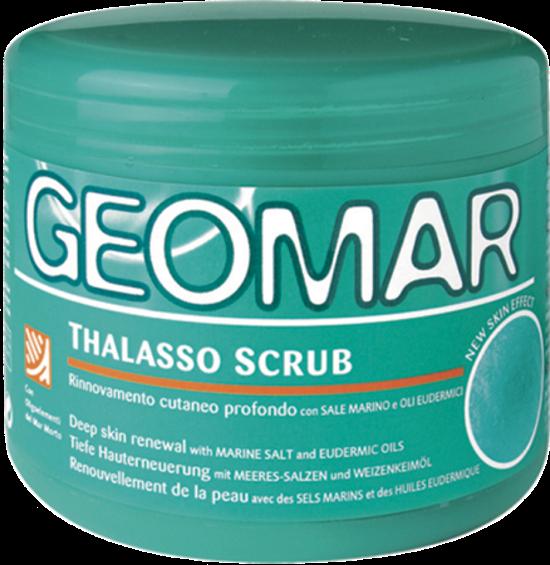 GEOMAR Скраб-талассо для телаСкрабы и пилинги<br>Моделирующий скраб Талассо отшелушивает кожу, деликатно восстанавливает и разглаживает, делая ее равномерной.Аргановое масло и масло каритте интенсивно питают и смягчают, кожа становится более увлажненной и обретает приятный «эффект шелка».Его формула содержит:Морская соль, кофейный порошок, вулканический песок: обновляют кожу, благодаря отшелушивающему действию.фитоэкстракт зеленого кофе и гуараны: стимулирует микроциркуляцию.фитоэкстракт капсико: помогает улучшить циркуляцию эффектом дренажа.ОЛИГОЭЛЕМЕНТЫ Мертвого моря: восстанавливает яркость и эластичность кожи.Скраб Талассо делает кожу более восприимчивой к лечению, проникая в ткани и максимизируя результат.<br><br>Вес г: 650<br>Бренд : Geomar<br>Объем мл: 600<br>Страна производитель : Италия