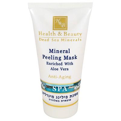 Health&amp;Beauty Маска-пилинг для лица минеральнаяHealth&amp;Beauty<br>Маска тройного действия для деликатной очистки кожи, c моментальным эффектом.<br>  Смягчает, отбеливает и очищает кожу.<br>  Содержит нежные частички, удаляющие отмершие клетки кожи, стимулирует регенерацию клеток и подготавливает кожу к воздействию других косметических средств.<br>  Содержит пудру абрикосовых косточек, каолин, растительные экстракты и минералы Мертвого моря.<br>  Рекомендуется для еженедельной глубокой очистки кожи всех типов.<br><br>Вес г: 150<br>Бренд : Health &amp; Beauty<br>Объем мл: 100<br>Тип кожи : все типы кожи<br>Консистенция маски : кремообразная<br>Часть лица : лицо<br>По времени суток : дневной уход<br>Назначение маски : очищающая, отбеливающая<br>Страна производитель : Израиль