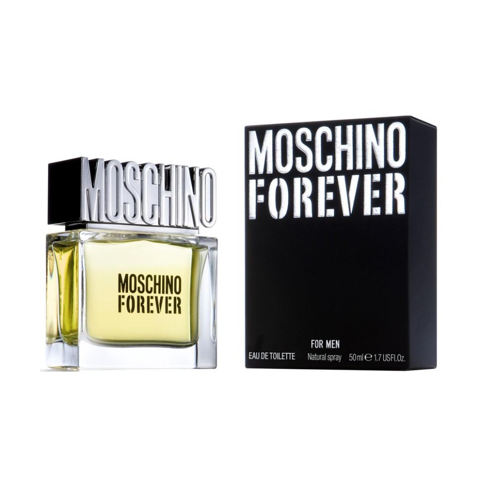 Moschino Forever Туалетная вода 50 млMoschino<br>Описание:<br>Это аромат для мужчин, аромат на все времена, вдохновлен модой MOSCHINO, известной своей оригинальной интерпретацией классики, элегантной и ироничной. Название аромата звучит как дань уважения создателю бренда. Это аромат для уникального мужчины с ярко выраженной индивидуальностью.<br>Мнение эксперта:<br>Аромат на все времена вдохновлен модой Moschino, известной своей интерпретацией классики, элегантной и ироничной.<br>Особенности состава:<br>Свежий и чувственный аромат с удивительным и современным фужерным аккордом.<br>Состав:<br>этиловый спирт, ароматическая композиция, дистиллированная вода,лимонен, линалул, бутилфенилметилпро пиналь,гераниол, цитронелол, цитрал, C.I. 19140 (желтый 5),C.I.15510(оранжевый 4),этилгексилметок сицинамат, этилгексилсалицилат, бутилметоксиди бензолметан<br><br>Вес г: 293<br>Бренд : Moschino<br>Объем мл: 50<br>Возраст : 14+<br>Страна производитель : Италия<br>Вид Аромата : Ароматический, фужерный<br>Шлейф : Ветивер, Сандал, Мускус<br>Верхняя Нота : Бергамот, Кумкват, Звездчатый анис<br>Верхняя Нота : Бергамот, Кумкват, Звездчатый анис