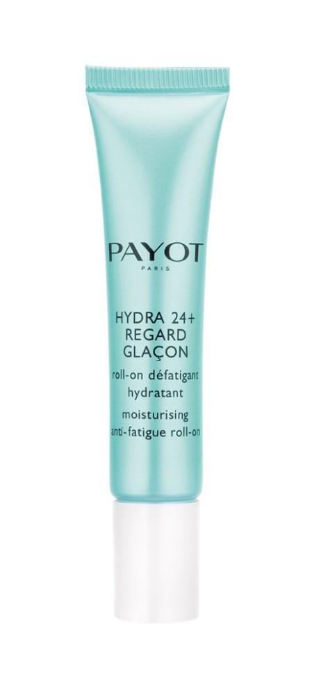 Payot Hydra 24+ Увлажняющий гель с роликовым аппликатором для снятия усталости кожи вокруг глаз 15 млPayot<br>Освежающий гель с охлаждающим металлическим роликом аппликатором помогает уменьшить отеки и темные круги под глазами, увлажняет, предотвращает преждевременное старение и защищает от внешних агрессивных факторов.<br>Способ применения:<br>Наносите крем утром и вечером на очищенную кожу области глаз.<br>Состав:<br>AQUA (WATER), GLYCERIN, BUTYLENE GLYCOL, ISODECYL NEOPENTANOATE, DIMETHICONE, TAPIOCA STARCH, SODIUM POLYACRYLATE, PHENOXYETHANOL, TREHALOSE, UREA, CHLORPHENESIN, PROPYLENE GLYCOL, ASCORBYL TETRAISOPALMITATE, TOCOPHERYL ACETATE, CREATINE, O-CYMEN-5-OL, SODIUM HYDROXIDE, PENTYLENE GLYCOL, SERINE, BIOSACCHARIDE GUM-1, POLYMETHYLSILSESQUIOXANE, ALGIN, CAPRYLYL GLYCOL, DISODIUM PHOSPHATE, GLYCERYL POLYACRYLATE, PULLULAN, SODIUM HYALURONATE, SODIUM CARRAGEENAN, FICUS CARICA (FIG) FRUIT EXTRACT, POTASSIUM PHOSPHATE, MARIS SAL (SEA SALT) , CITRULLUS LANATUS (WATERMELON) FRUIT EXTRACT, CHRYSANTHELLUM INDICUM EXTRACT, ALTEROMONAS FERMENT EXTRACT<br><br>Вес г: 57<br>Бренд : Payot<br>Объем мл: 15<br>Часть лица : глаза<br>Возраст : 16+<br>Вид средства для век : ролик<br>По времени суток : дневной уход<br>Страна производитель : Франция