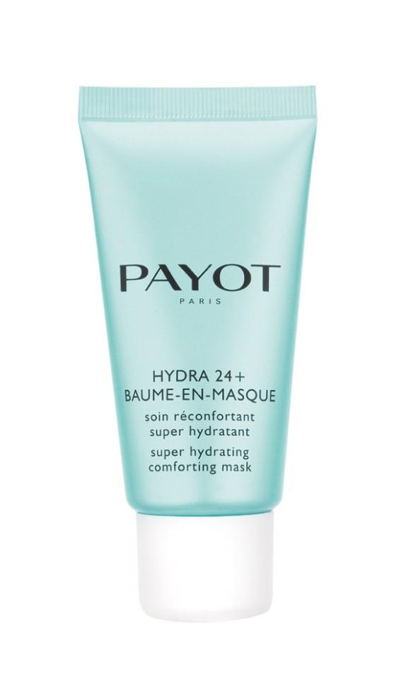Payot Hydra 24+ Суперувлажняющая смягчающая маска 50 млPayot<br>Маска для обезвоженной кожи любого типа моментально увлажняет, возвращает ощущение комфорта даже самой обезвоженной коже, предотвращает преждевременное старение и защищает от внешних агрессивных факторов.<br>Способ применения:<br>Нанесите маску толстым слоем на тщательно очищенную кожу лица и шеи на 10 минут. Два варианта использования: массировать кончиками пальцев до полного впитывания или смыть, затем использовать тоник.<br>Состав:<br>AQUA (WATER), GLYCERIN, BUTYLENE GLYCOL, DIMETHICONE, SODIUM POLYACRYLATE, 1,2-HEXANEDIOL, PARFUM (FRAGRANCE), MICA, TREHALOSE, UREA, PROPYLENE GLYCOL , CI 77891 (TITANIUM DIOXIDE), TOCOPHERYL ACETATE, ACRYLATES/C10-30 ALKYL ACRYLATE CROSSPOLYMER, ASCORBYL TETRAISOPALMITATE, CREATINE, O-CYMEN-5-OL, PHENOXYETHANOL, BIOSACCHARIDE GUM-1, PENTYLENE GLYCOL, SERINE, SODIUM HYDROXIDE, ALGIN, CAPRYLYL GLYCOL, DISODIUM PHOSPHATE, GLYCERYL POLYACRYLATE, PULLULAN, SODIUM HYALURONATE, SODIUM CARRAGEENAN, FICUS CARICA (FIG) FRUIT EXTRACT, POTASSIUM PHOSPHATE, MARIS SAL (SEA SALT), CITRULLUS LANATUS (WATERMELON) FRUIT EXTRACT, CHRYSANTHELLUM INDICUM EXTRACT, ALTEROMONAS FERMENT EXTRACT, CI 42090 (BLUE 1), CI 19140 (YELLOW 5)<br><br>Вес г: 103<br>Бренд : Payot<br>Объем мл: 50<br>Тип кожи : все типы кожи<br>Консистенция маски : кремообразная<br>Часть лица : лицо<br>Возраст : 16<br>По времени суток : дневной уход<br>Назначение маски : увлажняющая<br>Страна производитель : Франция