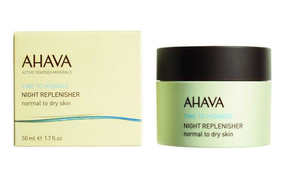 Ahava Time To Hydrate Ночной восстанавливающий крем для нормальной и сухой кожи 50 млAhava<br>Крем с бархатистой текстурой восстанавливает и  омолаживает и кожу в течение ночи. Глубоко увлажняет и питает. Утром кожа готова к новому дню!Являясь единственной косметической компанией, расположенной на берегу Мертвого моря, цель и задача AHAVA состоит в том, чтобы предоставить достоинства Мертвого моря путем использования своих самых необычных ингредиентов и создания инновационных и эффективных продуктов для потребителей во всем мире.Способ применения:<br>Щедро наносить на очищенную кожу лица и шеи каждую ночь.<br>Особенности состава:<br>*Вся продукция не содержит парабены*Вся очищающие средства не содержат SLS / SLES (лаурет сульфат натрия). *Не содержит продуктов нефтепереработки, агрессивных синтетических ингредиентов и ГМО*Вся продукция гипоаллергена и опробована на чувствительной кожи.*Не тестируется на животных*Вся упаковка подлежит вторичной переработке*Вся продукция содержит формулу Osmoter™Состав:<br>Aqua (Water), Ethylhexyl Palmitate, Propanediol(Corn derived Glycol), Cetyl Alcohol, Glyceryl Stearate, Peg-40 Stearate, Saccharide Isomerate, Glycoproteins, Caprylyl Glycol &amp;amp; Chlorphenesin &amp;amp; Phenoxyethanol, Parfum (Fragrance), Persea Gratissima (Avocado) Oil, Simmondsia Chinensis (Jojoba) Seed Oil, Prunus Amygdalus Dulcis (Sweet Almond) Oil, Triticum Vulgare (Wheat) Germ Oil, Maris Sal (Dead Sea Water), Tocopheryl (Vitamin E) Acetate, Retinyl(Vitamin A)Palmitate, Dimethicone, Sorbitan Tristearate, Tocopherol (Vitamin E), Alpha Isomethyl Ionone, Benzyl Alcohol, Benzyl Benzoate, Butylphenyl Methylpropional, Citronellol, Coumarin, Geraniol, Hexyl Cinnamal, Hydroxyisohexyl 3-Cyclohexene Carboxaldehyde, Isoeugenol, Linalool.<br><br>Вес г: 150<br>Бренд : Ahava<br>Объем мл: 50<br>Тип кожи : нормальная, сухая<br>Консистенция : крем<br>Тип крема : увлажняющий, антивозрастной, восстанавливающий, органический<br>Возраст : 12+<br>Эффект : эластичность<br>По вре