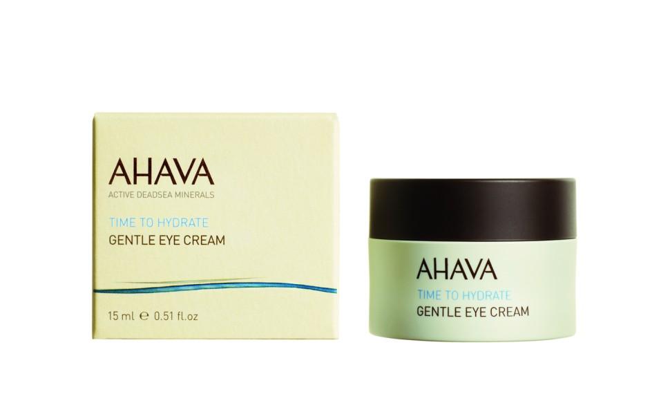 Ahava Time To Hydrate Нежный крем для глаз 15 млAhava<br>Легкий и нежный крем, легко впитывается в кожу, обеспечивает кожи вокруг глаз  максимальным комфортом. Увлажняет тонкую и нежную кожу вокруг глаз, уменьшает морщины и устраняет усталостьЯвляясь единственной косметической компанией, расположенной на берегу Мертвого моря, цель и задача AHAVA состоит в том, чтобы предоставить достоинства Мертвого моря путем использования своих самых необычных ингредиентов и создания инновационных и эффективных продуктов для потребителей во всем мире.Способ применения:<br>Наносить на очищенную зону вокруг глаз; кончиками пальцев нанести небольшое количество продукта на кожу. Использовать два раза в день для оптимального результата.<br>Особенности состава:<br>*Вся продукция не содержит парабены*Вся очищающие средства не содержат SLS / SLES (лаурет сульфат натрия). *Не содержит продуктов нефтепереработки, агрессивных синтетических ингредиентов и ГМО*Вся продукция гипоаллергена и опробована на чувствительной кожи.*Не тестируется на животных*Вся упаковка подлежит вторичной переработке*Вся продукция содержит формулу Osmoter™Состав:<br>Aqua (Water), Ethylhexyl Palmitate, Propanediol(Corn derived Glycol), Aqua (Mineral Spring Water), Cyclopentasiloxane &amp;amp; PEG/PPG-18/18 Dimethicone, Cyclomethicone &amp;amp; Dimethicone Crosspolymer, Isostearyl Isostearate, Glycerin, Propylene Carbonate &amp;amp; Quaternium-18 Hectorite,Aloe Barbadensis Leaf Juice, Butylene Glycol &amp;amp; Ruscus Aculeatus Root (Butcherbroom) Extract, Centella Asiatica Extract, Calendula Officinalis Flower Extract &amp;amp; Propylene Glycol, Sodium Hyaluronate, Phenoxyethanol &amp;amp; Ethylhexylglycerin, Maris Sal (Dead Sea Water), Cetyl PEG/PPG-10/1 Dimethicone, Saccharide Isomerate, Panthenol (Pro Vitamin B5), Allantoin, Bisabolol, Ceratonia Siliqua (Carob Bean) Gum, Dunaliella Salina Extract, Phoenix Dactylifera (Date) Fruit Extract, Polyglyceryl-4 Isostearate, Hippophae Rhamnoides (Oblipicha) Fruit Oil.<br><br