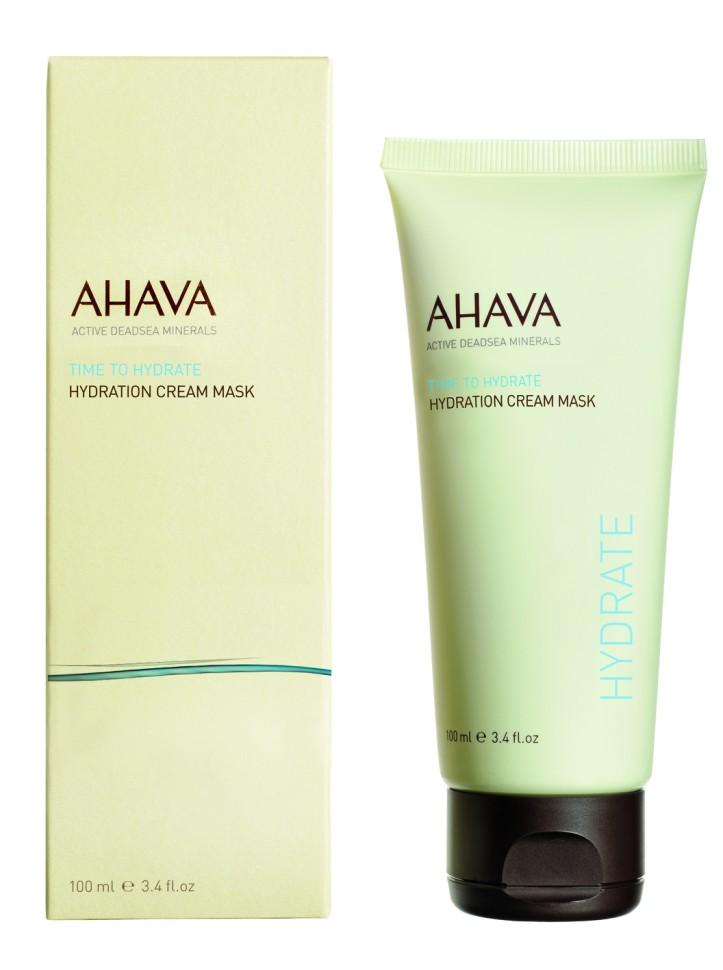 """Ahava Time To Hydrate Увлажняющая крем - маска 100 млAhava<br>Увлажняющая маска с кремовой текстурой, обогащенная лучшими минералами и грязью  Мертвого моря,  маслом Ши и отборными увлажняющими ингредиентами, обеспечивает интенсивное уважение всего за 3 минуты. Кожа лица мгновенно разглаживается, становится свежей и упругой, чувствует себя насыщенной и расслабленной.Являясь единственной косметической компанией, расположенной на берегу Мертвого моря, цель и задача AHAVA состоит в том, чтобы предоставить достоинства Мертвого моря путем использования своих самых необычных ингредиентов и создания инновационных и эффективных продуктов для потребителей во всем мире.Способ применения:<br>Маска """"быстрого использования"""", которую можно смыть всего через 3 минуты, либо оставить на всю ночь для интенсивного увлажнения. Рекомендуется использовать 1-2 раза в неделю.Особенности состава:<br>*Вся продукция не содержит парабены*Вся очищающие средства не содержат SLS / SLES (лаурет сульфат натрия). *Не содержит продуктов нефтепереработки, агрессивных синтетических ингредиентов и ГМО*Вся продукция гипоаллергена и опробована на чувствительной кожи.*Не тестируется на животных*Вся упаковка подлежит вторичной переработке*Вся продукция содержит формулу Osmoter™Состав:<br>Aqua (Mineral Spring Water), Glycerin, Ceteareth-20 &amp;amp; Cetearyl Alcohol, Caprylic/Capric Triglyceride, Glyceryl Stearate, Ethylhexyl Palmitate, Propanediol (Corn derived Glycol), Cetyl Alcohol, Alanine &amp;amp; Creatine &amp;amp; Glycerin &amp;amp; Glycine &amp;amp; Magnesium Aspartate &amp;amp; Saccharide Hydrolysate &amp;amp;Urea, Butyrospermum Parkii (Shea Butter), Caprylyl Glycol &amp;amp; Chlorphenesin &amp;amp; Phenoxyethanol, 1,2 Hexanediol &amp;amp; Sodium Hyaluronate &amp;amp; Aqua (Water), Aloe Barbadensis Leaf Juice, Aloe Barbadensis Leaf Extract &amp;amp; Propylene Glycol, Maris Sal (Dead Sea Water), Peg-40 Stearate, Xanthan Gum, Sorbitan Tristearate, Tocopheryl (Vitamin E) Acetate, Silt (Dead Sea Mud), """