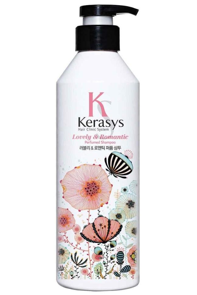 KeraSys Шампунь для волос Romantic для красоты и здоровья волосKeraSys<br>Керасис Парфюмированная линия РОМАНТИК<br>Шампунь для волос Kerasys Lovely &amp;amp; Romantic ParfumedСпециально разработанная формула ДЛЯ ПОВРЕЖДЕННЫХ ВОЛОС с секущимися концами, восстанавливает структуру волос по всей длине, уменьшает сечение и ломкость. Волосы обретают жизненную силу, блеск и эластичность. Содержит богатые витаминами экстракты цветов базилика и маргаритки.Аромат: романтичный и чувственный аромат, он прекрасен и неповторим словно первая любовь. Едва уловимые нотки жасмина и магнолии подарят ощущение счастья и блаженства.Парфюмерная композиция:<br>Начальная нота: цветы апельсина, цветы белого персика, фрезия.<br>Срединная нота: жасмин, магнолия, маргаритка, ландыш.<br>Конечная нота: кедр, белый мускус, амбра.Объем: 600 мл<br><br>Вес г: 650<br>Бренд: KeraSys<br>Объем мл: 600<br>Тип волос: поврежденные, длинные и секущиеся<br>Действие: восстановление, блеск и эластичность<br>Тип средства для волос: шампунь<br>Страна производитель: Корея