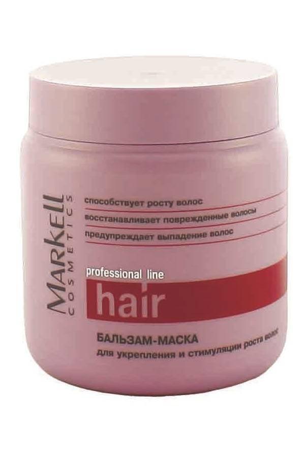 Markell Бальзам-Маска для укрепления и стимуляции роста волос (500 мл)Markell<br>Бальзам-маска с инновационным комплексом для интенсивного восстановления и укрепления ослабленных волос. Активные компоненты способствуют укреплению волосяной луковицы и стимулируют активный рост волос.- восстанавливает поврежденные волосы- предупреждает выпадение волос- способствует росту волос<br><br>Вес г: 550<br>Бренд : Markell<br>Объем мл: 200<br>Тип волос : длинные и секущиеся<br>Действие : блеск и эластичность<br>Тип средства для волос : бальзам<br>Страна производитель : Белоруссия