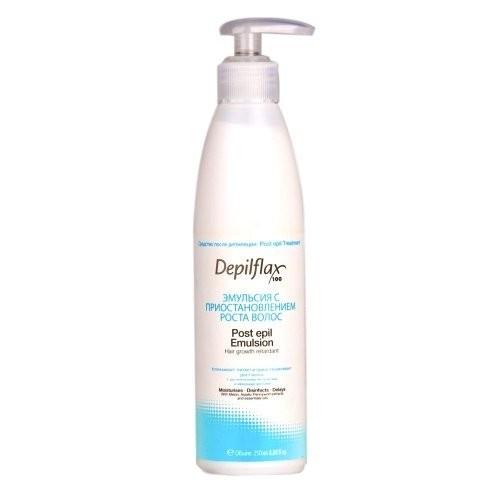 Depilflax Эмульсия для замед.рост волос 250 мл.Depilflax<br>Эмульсия после депиляции DEPILFLAX для сухой и чувствительной кожи.Предназначена для замедления роста волос. Оказывает увлажняющее и успокаивающее действие, придает коже мягкость и эластичность, снимает раздражение. Эмульсия Депифлакс рекомендуется для сухой и чувствительной кожи.<br><br>Вес г: 300<br>Бренд: Depilflax<br>Объем мл: 250