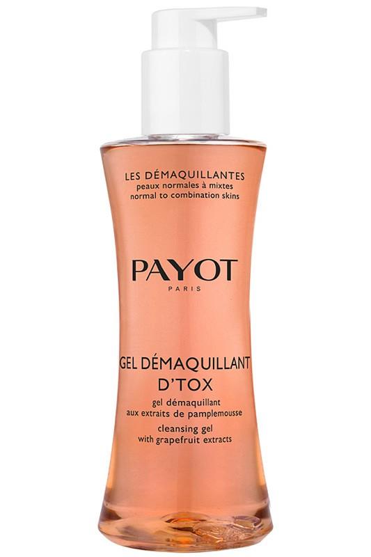 Payot Les Demaquillantes Очищающий гель-детокс 200 млPayot<br>Гель для нормальной и комбинированной, склонной к жирности кожи удаляет макияж и загрязнения, избавляет от жирного блеска. Моментально усиливает сияние кожи.<br>Способ применения:<br>Нанесите гель на влажную кожу лица и шеи, избегая области глаз, восходящими круговыми движениями; смойте водой, затем используйте тоник.<br>Состав:<br>AQUA (WATER), DECYL GLUCOSIDE, SODIUM LAURETH SULFATE, SODIUM COCOAMPHOACETATE, CETEARETH-60 MYRISTYL GLYCOL, GLYCERIN, SODIUM METHYL COCOYL TAURATE, PPG-2 HYDROXYETHYL COCAMIDE, COCO-GLUCOSIDE, GLYCERYL OLEATE, PARFUM (FRAGRANCE, PHENOXYETHANOL, SODIUM CHLORIDE, PPG-2 HYDROXYETHYL COCO/ISOSTEARAMIDE, CITRIC ACID, ASCORBYL GLUCOSIDE, BENZOIC ACID, BUTYLENE GLYCOL, SODIUM CITRATE, SODIUM HYDROXIDE, CINNAMOMUM ZEYLANICUM BARK EXTRACT, CI 19140 (YELLOW 5), CI 17200 (RED 33)<br><br>Вес г: 293<br>Бренд : Payot<br>Объем мл: 200<br>Тип кожи : комбинированная, жирная<br>Возраст : 16<br>Вид очищающего средства : гель<br>Страна производитель : Франция