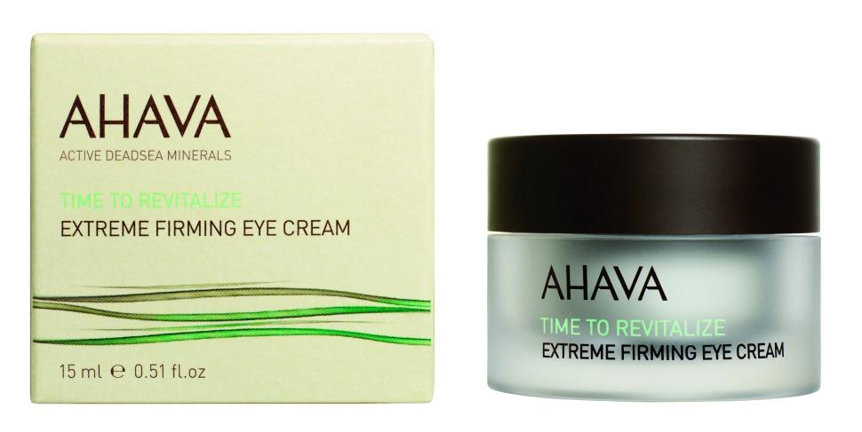 Ahava Time To Revitalize Радикально восстанавливающий и придающий упругость крем для контура глаз 15 млAhava<br>Уменьшает морщины и заметно укрепляет нежную кожу вокруг глаз. Обогащенный Extreme™ Complex и новым инновационным экстрактом из красных микроводорослей. Этот уникальный крем обволакивая кожу, разглаживает ее, улучшает эластичность, делает более молодой и подтянутой. Богатая бархатистая текстура крема включает в себя новейшие инновационные ингредиенты, подобранные специально для обеспечения восстановления и защиты кожи вокруг глазЯвляясь единственной косметической компанией, расположенной на берегу Мертвого моря, цель и задача AHAVA состоит в том, чтобы предоставить достоинства Мертвого моря путем использования своих самых необычных ингредиентов и создания инновационных и эффективных продуктов для потребителей во всем мире.Способ применения:<br>Наносить на кожу вокруг глаз утром и вечером.<br>Особенности состава:<br>*Вся продукция не содержит парабены*Вся очищающие средства не содержат SLS / SLES (лаурет сульфат натрия). *Не содержит продуктов нефтепереработки, агрессивных синтетических ингредиентов и ГМО*Вся продукция гипоаллергена и опробована на чувствительной кожи.*Не тестируется на животных*Вся упаковка подлежит вторичной переработке*Вся продукция содержит формулу Osmoter™<br>Состав:<br>Aqua (Mineral Spring Water), Caprylyl Glycol &amp;amp; 1,2 Hexanediol &amp;amp; Sodium Hyaluronate &amp;amp; Aqua (Water), Cyclopentasiloxane &amp;amp; PEG/PPG-18/18 Dimethicone, Silica &amp;amp; HDI/Trimethylol Hexyl-lactone Crosspolymer, Dimethicone &amp;amp; Dimethicone Crosspolymer, Hydrogenated Soy Polyglycerides &amp;amp; C15-23 Alkane, Butylene Glycol &amp;amp; Hydroxyethylcellulose &amp;amp; Sorbitan Laurate &amp;amp; Acetyl Dipeptide-1 Cetyl Ester, Isohexadecane, Glycerin, Cyclomethicone &amp;amp; Propylene Carbonate Quaternium- 18 Hectorite, Phenyl Trimethicone, Hamamelis Virginiana (Witch Hazel) Water, Cetraria Islandica (Iceland Moss) Extract, Hydroxypropyl 