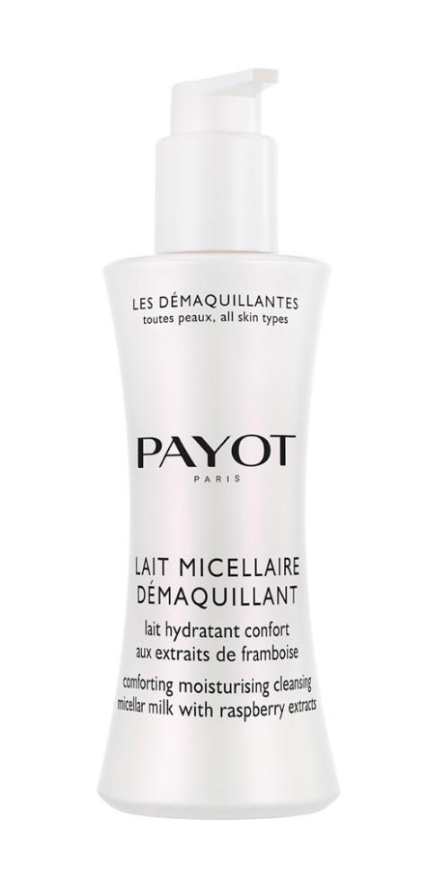 Payot Les Demaquillantes Молочко очищающее мицеллярное для всех типов кожи 200 млPayot<br>Очищающее мицеллярное молочко, для всех типов кожи деликатно удаляет любые загрязнения и макияж. Увлажняет и смягчает кожу, восстанавливает биологический баланс кожи, сохраняя ее молодость.<br>Способ применения:<br>Наносите на кожу лица и шеи ватным диском. Очистите кожу, затем используйте лосьон.<br>Состав:<br>AQUA (WATER), ETHYLHEXYL PALMITATE, OLEYL ERUCATE, GLYCERIN, DICAPRYLYL CARBONATE, BUTYLENE GLYCOL, POLYSORBATE 60, 1,2-HEXANEDIOL, ACRYLATES/C10-30 ALKYL ACRYLATE CROSSPOLYMER, CHLORPHENESIN, PARFUM (FRAGRANCE), O-CYMEN-5-OL, SODIUM HYDROXIDE, RUBUS IDAEUS (RASPBERRY) SEED<br><br>Вес г: 285<br>Бренд : Payot<br>Объем мл: 200<br>Тип кожи : все типы кожи<br>Возраст : 16+<br>Область применения : лицо, глаза<br>Вид средства для демакияжа : молочко<br>Область применения : лицо, глаза<br>Страна производитель : Франция