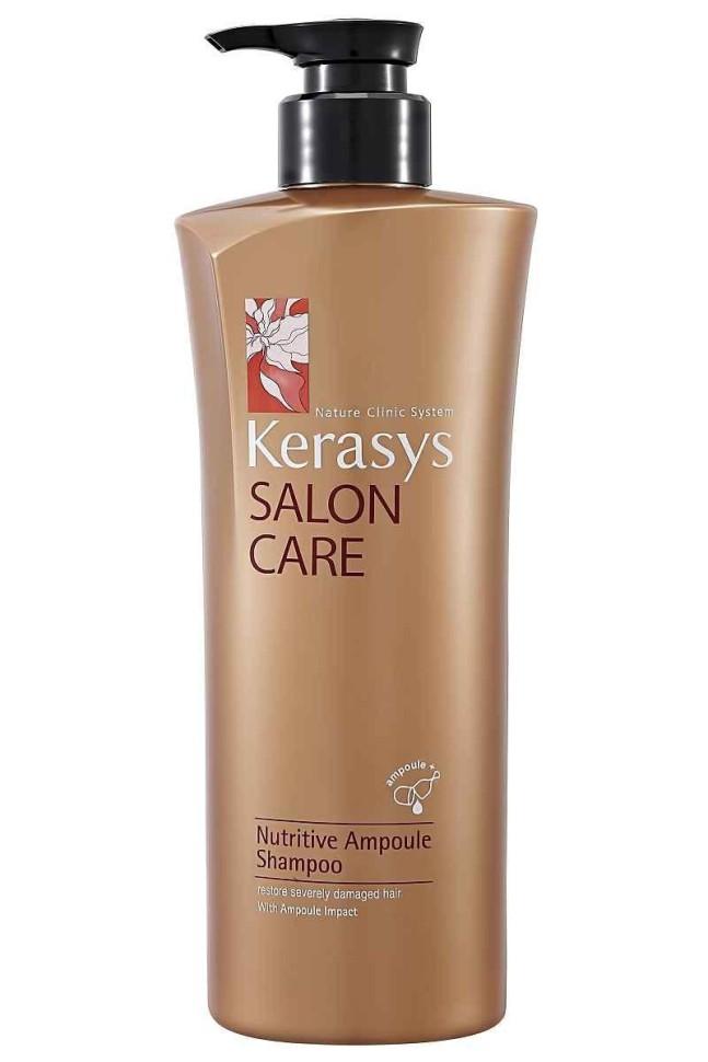 KeraSys Шампунь для волос Salon Care Питание (600 мл)KeraSys<br>KeraSys Salon Care Nutritive Ampoule Shampoo – питательный шампунь для волос от корейского бренда, который пользуется спросом на территории стран СНГ. Салонная профессиональная косметика создана по результатам последних научных исследований.  Азиатская косметическая продукция славится своим качеством и экзотичностью, и Nutritive Ampoule Shampoo серии Salon Care от KeraSys не исключение. Его запатентованная формула с лечебными ампулами позволяет доставлять компоненты непосредственно к волосяной луковице, минуя агрессивную моющую среду самой косметики.  Это средство предназначено для питания волосяной луковицы и восстановления волос после повреждения от использования стайлинговых средств. В его состав входит такой мощный антиоксидант, как бегеновое масло масло семян моринги. Такой несколько экзотический для покупателей ингредиент широко используется в Индии, Китае и Корее. Это – природный антибиотик, который борется с воспалениями и бактериями, устраняет перхоть и мягко питает кожу головы.  Витамины А и С борются со свободными радикалами, а растительный протеин встраивается в структуру волос, делая их вновь гладкими и плотными.  Полифенолы также считаются мощнейшими антиоксидантами, защищающими волос от воздействия агрессивной внешней среды. В итоге волосы выглядят более сильными и здоровыми, так как питание происходит на клеточном уровне. Этот продукт от KeraSys при регулярном применении позволит избавиться от последствий стресса, плохой экологии, несбалансированного питания и агрессивных внешних факторов, которые ухудшают кровяное снабжение волосяной луковицы, делая волосы тусклыми и сухими.<br><br>Вес г: 650<br>Бренд: KeraSys<br>Тип волос: длинные и секущиеся<br>Действие: против перхоти<br>Тип средства для волос: шампунь<br>Страна производитель: Корея