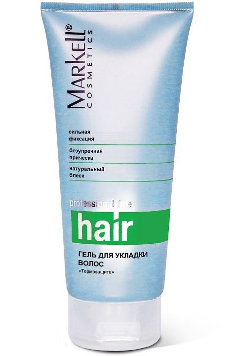 Markell Гель для укладки волос ТермозащитаMarkell<br>Обеспечивает безукоризненную форму прическе, не утяжеляет волосы, полностью удаляется расческой. Поможет создать прическу на волосах любой длины. Особый комплекс активных компонентов обеспечит дополнительный уход за волосами.<br><br>Вес г: 220<br>Бренд : Markell<br>Объем мл: 200<br>Тип волос : все типы волос<br>Страна производитель : Белоруссия<br>Средство стайлинга : гель<br>Степень фиксации : средняя<br>Эффект стайлинга : термозащита