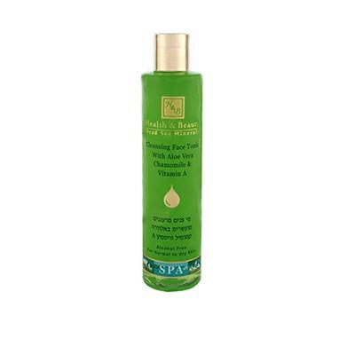 Health&amp;Beauty Тоник для лица очищающийHealth&amp;Beauty<br>Тоник  без    добавления    спирта    прекрасно  очищает  и освежает кожу  лица  и  шеи,  поддерживает  кислотный  баланс ,   удаляет  омертвевшие   клетки, способствуя,  тем самым,  более эффективному  воздействию  наносимых увлажняющих  или  питательных средств.Предназначен  для завершения процесса очищения и придания    коже светлого матового оттенка.Инновационная формула тоника содержит  высокую концентрацию активных минералов Мертвого моря и экстрактов ромашки и алоэ, а также масло бергамота, витамин А и эластин.<br><br>Вес г: 300<br>Бренд: Health &amp; Beauty<br>Объем мл: 250<br>Тип кожи: все типы кожи<br>Вид средства для демакияжа: тоник<br>Страна производитель: Израиль