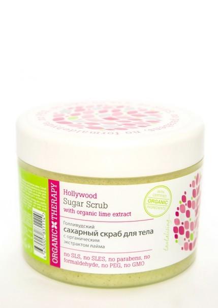 Organic Therapy Скраб сахарный для тела 500млOrganic Therapy<br>Роскошный сахарный скраб для тела подарит вам поистине голливудский уход и наслаждение освежающим ароматом сочного лайма. Насыщенная тающая текстура превосходно тонизирует и разглаживает кожу, благодаря органическому экстракту лайма. Органический экстракт лайма содержит витамины и фруктовые аминокислоты, насыщающие и увлажняющие кожу. А органическое масло виноградных косточек богато линолевой кислотой Омега-6, которая увлажняет кожу и способствует ее регенерации.<br><br>Вес г: 600<br>Бренд : Organic Therapy<br>Объем мл: 500<br>Страна производитель : Россия