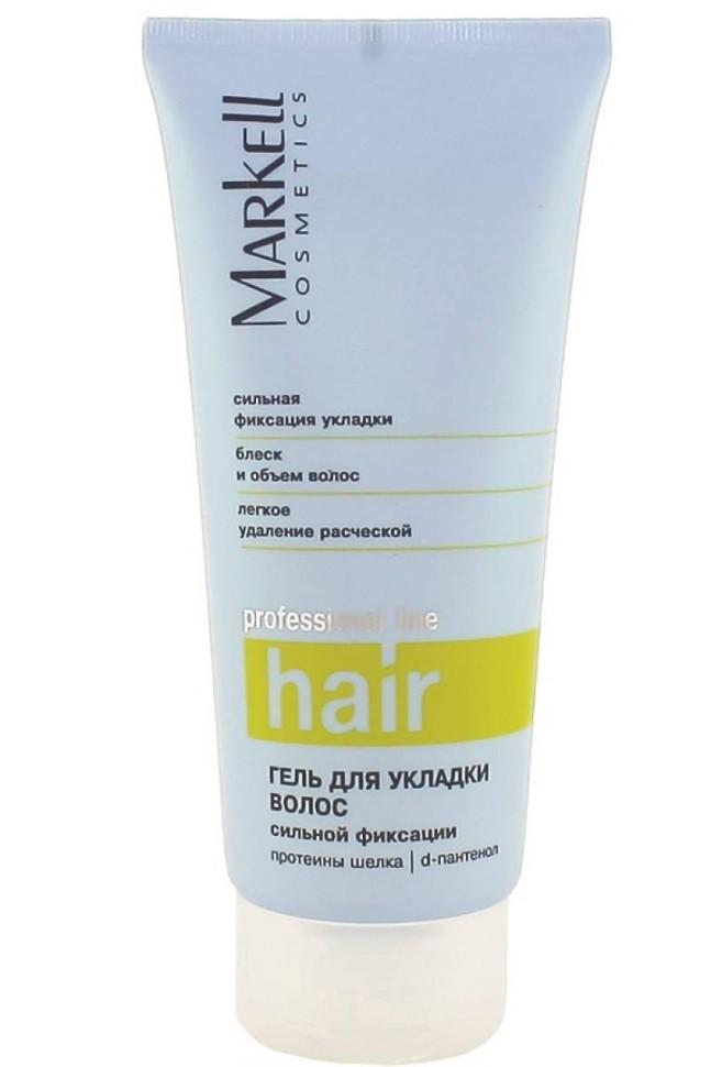 Markell Гель для укладки волос сильной фиксацииMarkell<br>Прекрасное стайлинговое средство, которое позволит вам создавать разнообразные прически на волосах любой длины. Универсальность средства состоит в том, что наносить его можно не только на влажные волосы, но и на сухие.<br><br>Вес г: 220<br>Бренд: Markell<br>Объем мл: 200<br>Степень фиксации: сильная<br>Тип волос: все типы волос<br>Страна производитель: Белоруссия<br>Средство стайлинга: гель<br>Степень фиксации: сильная<br>Эффект стайлинга: фиксация