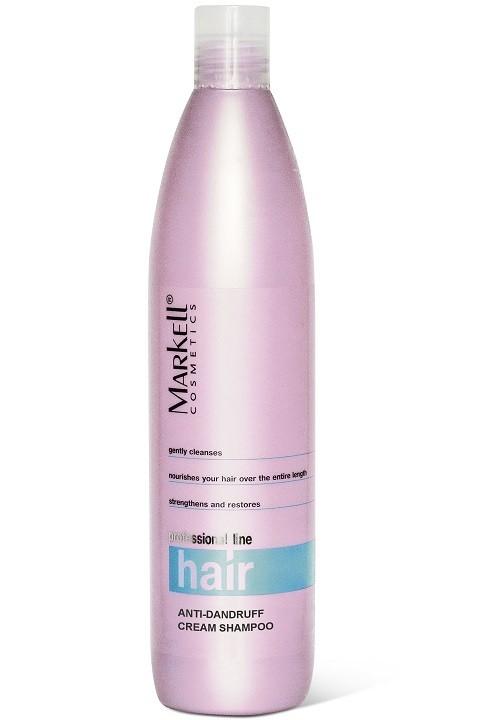 Markell Крем-Шампунь Против перхотиMarkell<br>Крем-шампунь с комплексом активных компонентов для здоровья и красоты Ваших волос. Уменьшает интенсивность шелушения кожи, снимает раздражение, препятствует образованию перхоти, регулирует работу сальных желез. Способствует восстановлению липидного баланса кожи головы, качественно улучшает состояние волос.- препятствует образованию перхоти- снимает раздражение и зуд- регулирует работу сальных железПрименение: нанести крем-шампунь на влажные волосы, взбить пену и помассировать 1-2 минуты. Тщательно промыть волосы.<br><br>Вес г: 550<br>Бренд : Markell<br>Объем мл: 500<br>Тип волос : все типы волос<br>Действие : против перхоти<br>Тип средства для волос : шампунь<br>Страна производитель : Белоруссия