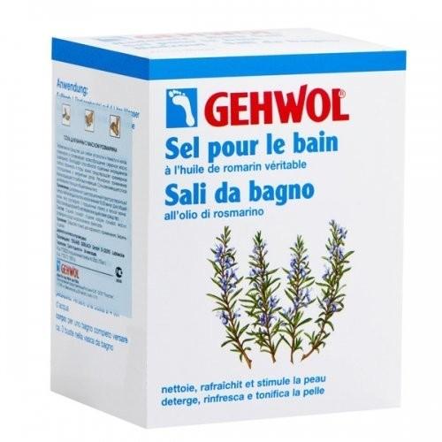 Gehwol Соль для ванны с розмарином 10 п.250 грGehwol<br>Эффективное средство для снятия усталости и тяжести в ногах. Соль подходит как для ванны ног, так и для общей ванны тела. Эфирное масло розмарина стимулирует и активизирует кровообращение, поэтому рекомендуется как средство, согревающее и снимающее боль в ногах (венах). Благодаря способности отдельных ингредиентов глубоко проникать в поры, ванна предотвращает чрезмерное потоотделение и неприятный запах. Регулярное применение ванны защищает от грибковых инфекций.<br>Применение: Для ванны ног один порционный пакет растворить в 4 л. теплой воды и купать ноги в течение 15-20 минут. Для общей ванны растворить 3 порционных пакета в теплой ванне. Массаж в воде усилит действие средства. Применение после ванны «Бальзама для ног» еще более улучшит благотворное воздействие на вены.<br><br>Вес г: 300<br>Бренд: Gehwol<br>Объем мл: 250