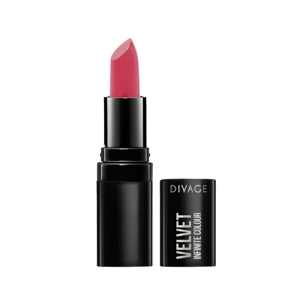 Divage Губная помада Velvet (10 розовый)Divage<br>Помада для губ из коллекции VELVET подарит вашим губам глубокий насыщенный роскошный цвет с матовым эффектом. Масло жожоба и витамин Е, входящие в состав помады, увлажняют губы и позволяют ей ложиться идеально ровно, а уникальная рецептура с ухаживающим комплексом делает твои губы мягкими и привлекательными. Коллекция включает 14 оттенков на любой случай жизни!<br>Как сохранить насыщенный яркий цвет помады в течение всего дня? DIVAGE раскроет секрет стойкости. Стойкость любой помады продлевает основа, в качестве которой можно выбрать пудру, тональный крем или консилер. Перед использованием помады нанеси небольшое количество основы на всю поверхность губ или по контуру. Использование контурного карандаша также продлит стойкость помады.<br>Состав:<br>Октилдодеканол, бис-диглицерил полиациладипад-2, слюда, гидрогенезированный полиизобутен, пентаэритритил тетраизостеарат, канделильский воск, микрокристаллический воск, оксихлорид висмута, алюминий крахмал октенилсукцинатом, нейлон-12, карнаубский воск, полиэтилен, масло ши (карите), полиглицерил-3, полиэтиленгликоль-8, витамин Е, аскорбилпальмитат, аскорбиновая кислота, лимонная кислота, отдушка. Может содержать: CI 77891, CI 77491, CI 77492, CI 77499, CI 15880, CI 15850, CI 45410, CI 15985, CI 77005, CI 77007, бензофенон-3<br><br>Вес г: 70<br>Бренд : Divage<br>Объем мл: 3<br>Упаковка помады : футляр (выдвижная)<br>Текстура помады : матовая<br>Свойства помады : увлажняющая<br>Вид помады : классическая<br>Страна производитель : Россия