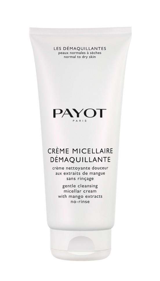 Payot Les Demaquillantes Крем смягчающий очищающий для нормальной и сухой кожи 200 млPayot<br>Нежный мицеллярный очищающий крем, для нормальной и сухой кожи удаляет макияж, загрязнения, в том числе скопившиеся в порах, сохраняя баланс естественного увлажнения.<br>Способ применения:<br>Наносите крем утром и вечером на кожу лица и шеи, деликатно помассируйте круговыми движениями. Снимите ватным диском или салфеткой, затем используйте лосьон.<br>Состав:<br>AQUA (WATER), ETHYLHEXYL PALMITATE, DICAPRYLYL CARBONATE, OLEYL ERUCATE, GLYCERIN, CETYL ALCOHOL, BUTYLENE GLYCOL, CETEARYL ALCOHOL, GLYCERYL STEARATE, PEG-100 STEARATE, PHENOXYETHANOL, CHLORPHENESIN, PARFUM (FRAGRANCE), ACRYLATES/C10-30 ALKYL ACRYLATE CROSSPOLYMER, O-CYMEN-5-OL, SODIUM HYDROXIDE, SODIUM HYALURONATE, TOCOPHEROL, MANGIFERA INDICA (MANGO) FRUIT EXTRACT, CI 17200 (RED 33), CITRIC ACID, POTASSIUM SORBATE, SODIUM BENZOATE<br><br>Вес г: 254<br>Бренд : Payot<br>Объем мл: 200<br>Тип кожи : нормальная, комбинированная, сухая<br>Консистенция : крем<br>Тип крема : увлажняющий, очищающий<br>Возраст : 16+<br>Эффект : эластичность<br>По времени суток : дневной уход, ночной уход<br>Страна производитель : Франция