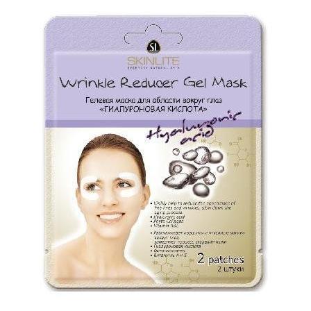 SKINLITE Гелевая маска для кожи вокруг глаз Гиалуроновая кислотаВокруг глаз<br>Гелевая маска Гиалуроновая кислота для кожи вокруг глаз.- Эти патчи для глаз Skinlite разглаживают морщины и гусиные лапки» вокруг глаз, замедляют процесс старения кожи- Гиалуроновая кислота- Фито-коллаген- Витамины А и Е4 штукиСпециально разработана для предупреждения появления морщин и «гусиных лапок» вокруг глаз.Гиалуроновая кислота, Фито-коллаген, Витамины А и Е, входящие в состав маски, стимулируют выработку собственного коллагена в коже, обладают лифтинг эффектом, повышают упругость и эластичность, разглаживают морщины вокруг глаз, замедляют процесс старения кожи и улучшают микроциркуляцию.Ярко выраженный эффект разглаживания морщин достигается за счет уникальных свойств гиалуроновой кислоты, которая является мощным катализатором обменных процессов и природным увлажнителем.• Дерматологически протестировано• Гипоаллергенно• Без отдушки• Гидрогелевого типа<br><br>Вес г: 15<br>Бренд: Skinlite<br>Консистенция маски: подушечки/полоски<br>Часть лица: глаза<br>Вид средства для век: маска/патчи