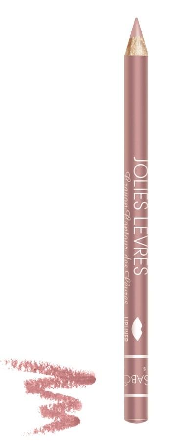 Vivienne Sabo карандаш для губ Jolies levres (205 беж-розовый)Правильный классический карандаш для губ Vivienne Sabo : мягко очерчивает их контур, не растекается, подходит к любой помаде или блеску — да и сам по себе хорош. Даже не обладая навыками, можно создать безупречно ровную линию одним движением  Свойства:  - Классический карандаш для губ  - Макияж губ при использовании карандаша выглядит профессионально и дольше держится  - Корректирует форму губ, предотвращает растекание помады или блеска   - Незаменимое средство в возрастном макияже  Советы по применению:  Очертите контур губ и растушуйте линию внутрь для мягкого соединения цвета карандаша с цветом помады или блеска. При выборе карандаша Jolies Levres для блеска, ориентируйтесь на цвет губ, для помады — на цвет помады<br><br>Бренд : Vivienne Sabo<br>Цвет карандаша : 205 беж-розовый<br>Страна производитель : Франция