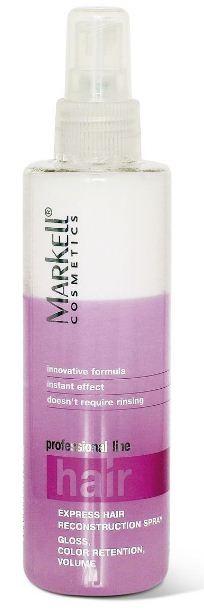 Markell Спрей Экспресс-ламинирование волос блеск, сохранение цвета, объемMarkell<br>Идеальное средство для дополнительного ухода за волосами. Запаивает неровности и шероховатости каждого волоска, волосы становятся гладкими и приобретают дополнительный блеск, сохраняет цвет волос. Заметно увеличивается объем и толщина каждого волоска. Волосы становятся более мягкими и пышными. Восстанавливает волосы после температурного и химического воздействия, облегчает расчесывание и укладку волос.Одно средство, которое заменит вам множество других для мгновенного великолепного результата.-инновационная формула-моментальный эффект-не требует смыванияПрименение: тщательно встряхнуть перед применением, нанести на чистые влажные волосы, высушить. Эффект сохраняется для следующего мытья волос.Беречь продукт от попадания прямых солнечных лучей.<br><br>Вес г: 220<br>Бренд: Markell<br>Объем мл: 200<br>Тип волос: сухие, поврежденные, окрашенные, после хим. завивки<br>Действие: для объема, легкое расчесывание, сохранение цвета, блеск и эластичность, разглаживание<br>Тип средства для волос: спрей<br>Страна производитель: Белоруссия