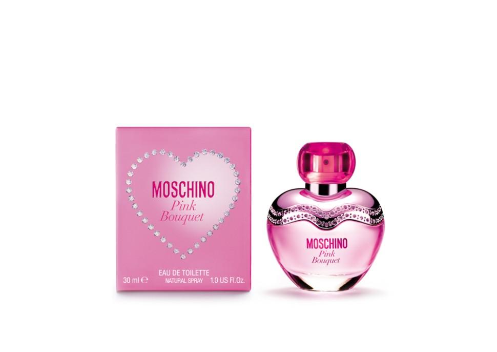 Moschino Pink Bouquet Туалетная вода 30 млMoschino<br>Это яркий, ошеломляющий взрыв энергии. Фейерверк блеска и изобилия. Ароматные лепестки переплетены в сияющем букете вечной весны. Эликсир эйфории юности, свежести и соблазна, яркие и вдохновляющие мечты от которых кружится голова. Великолепный букет цветов, словно по волшебству, окрашивает мир и чувства в розовый. Этот аромат для женщин с ярким характером, ценящих удовольствие и веселье превыше всего.<br>Особенности состава:<br>Фруктовый цветочный<br>Состав:<br>ароматическая композиция, дистиллированная вода, лимонен, этилгексилметок сицинамат, этилгексилсалицилат, бутилфенилме тилпропиналь, | гексилциннамал, линалул, гидрокси зогексил-3-циклогексен, бензилсалицилат, гераниол, цитрал, цитронелол, C.I. 17200, этиловый спирт |<br><br>Вес г: 147<br>Бренд : Moschino<br>Объем мл: 30<br>Возраст : 14+<br>Страна производитель : Италия<br>Вид Аромата : Фруктовый, цветочный<br>Шлейф : Персик, Имбирный пряник, Cosmone* (*синтетический<br>Верхняя Нота : Бергамот, Ананасовый сорбет, Малина<br>Верхняя Нота : Бергамот, Ананасовый сорбет, Малина